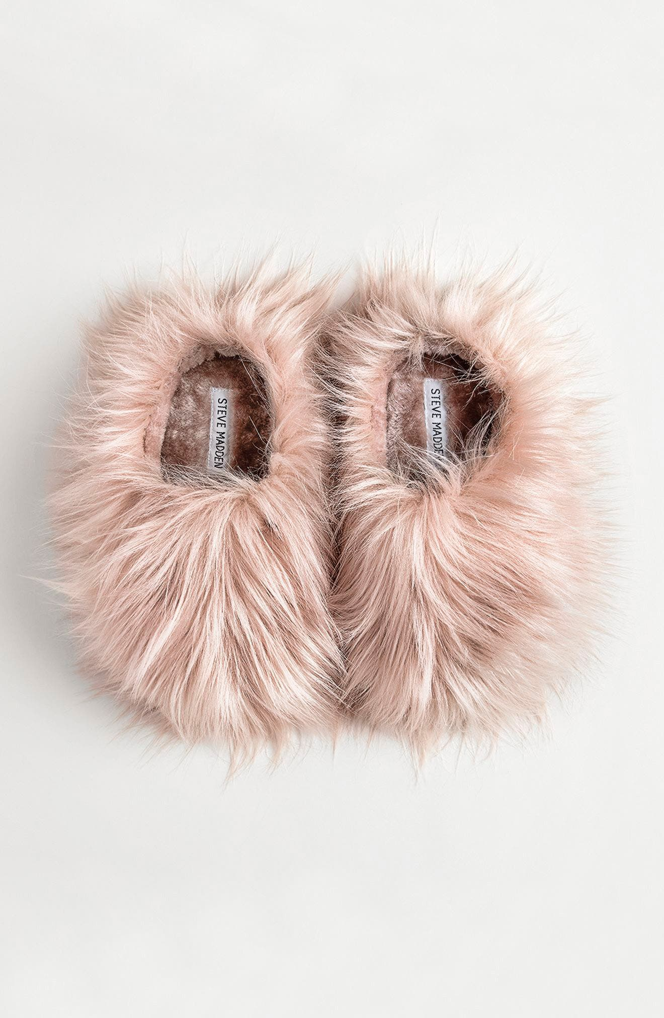 Fuzzy Faux Fur Slipper,                             Alternate thumbnail 8, color,