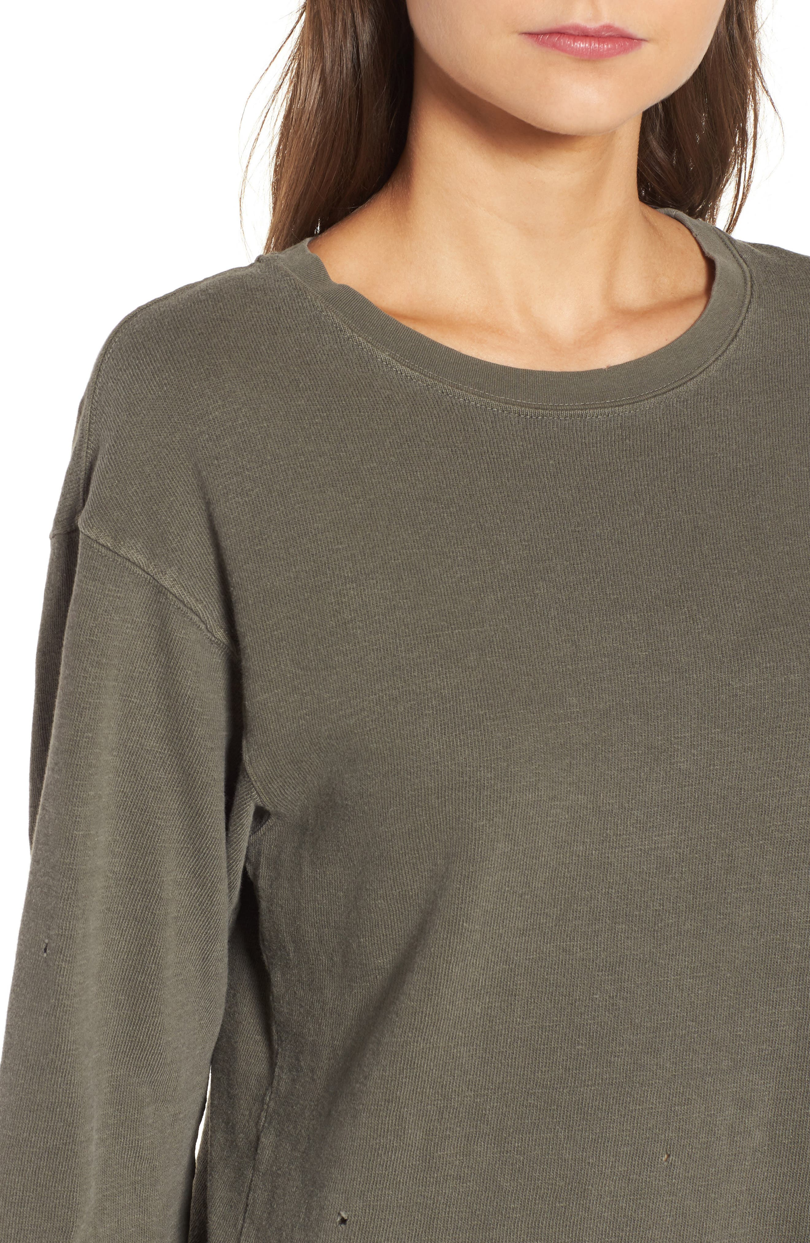Alternate Image 4  - James Perse Distressed Sweatshirt