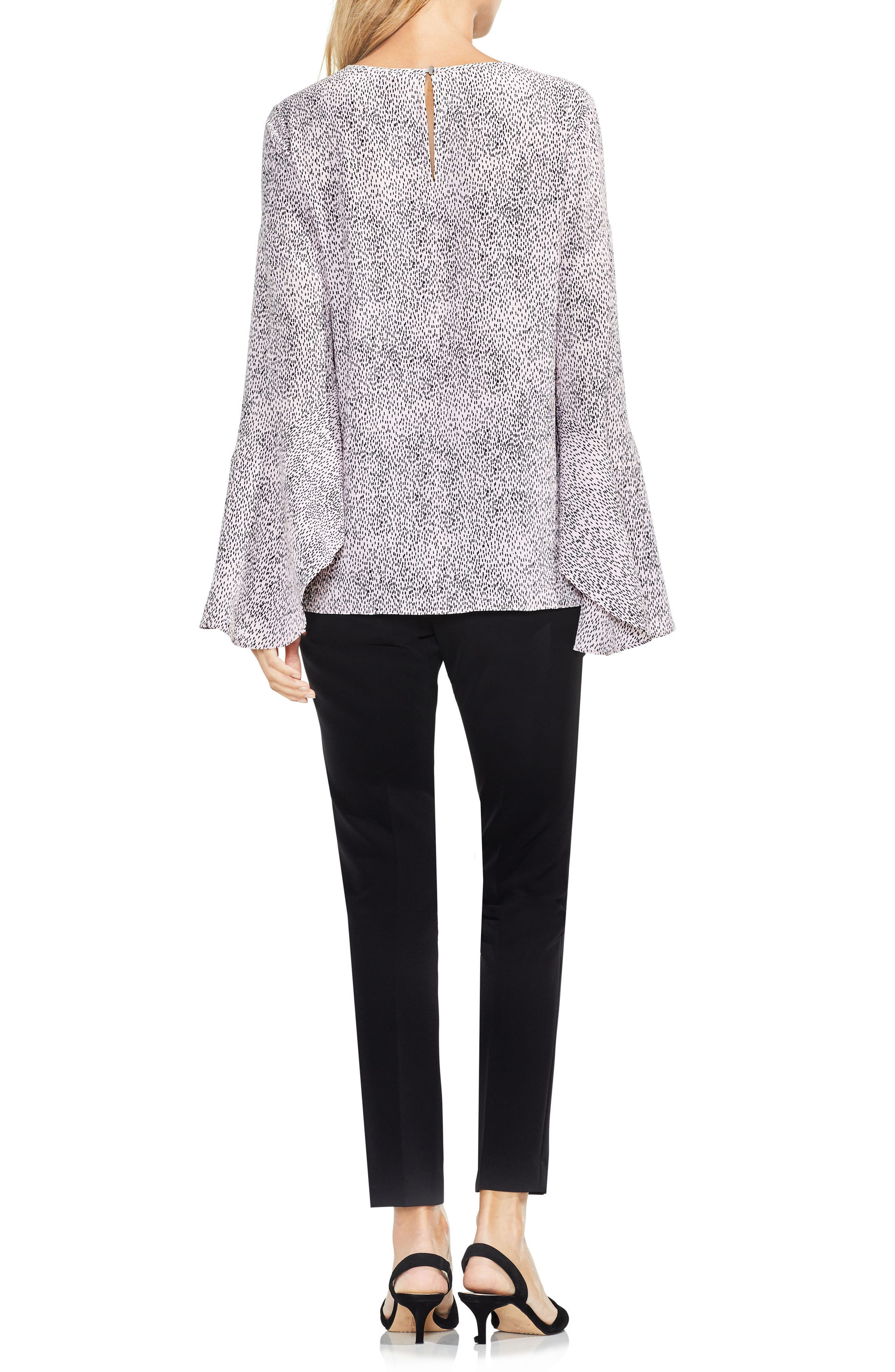 Alternate Image 3  - Vince Camuto Bell Sleeve Dashes Top