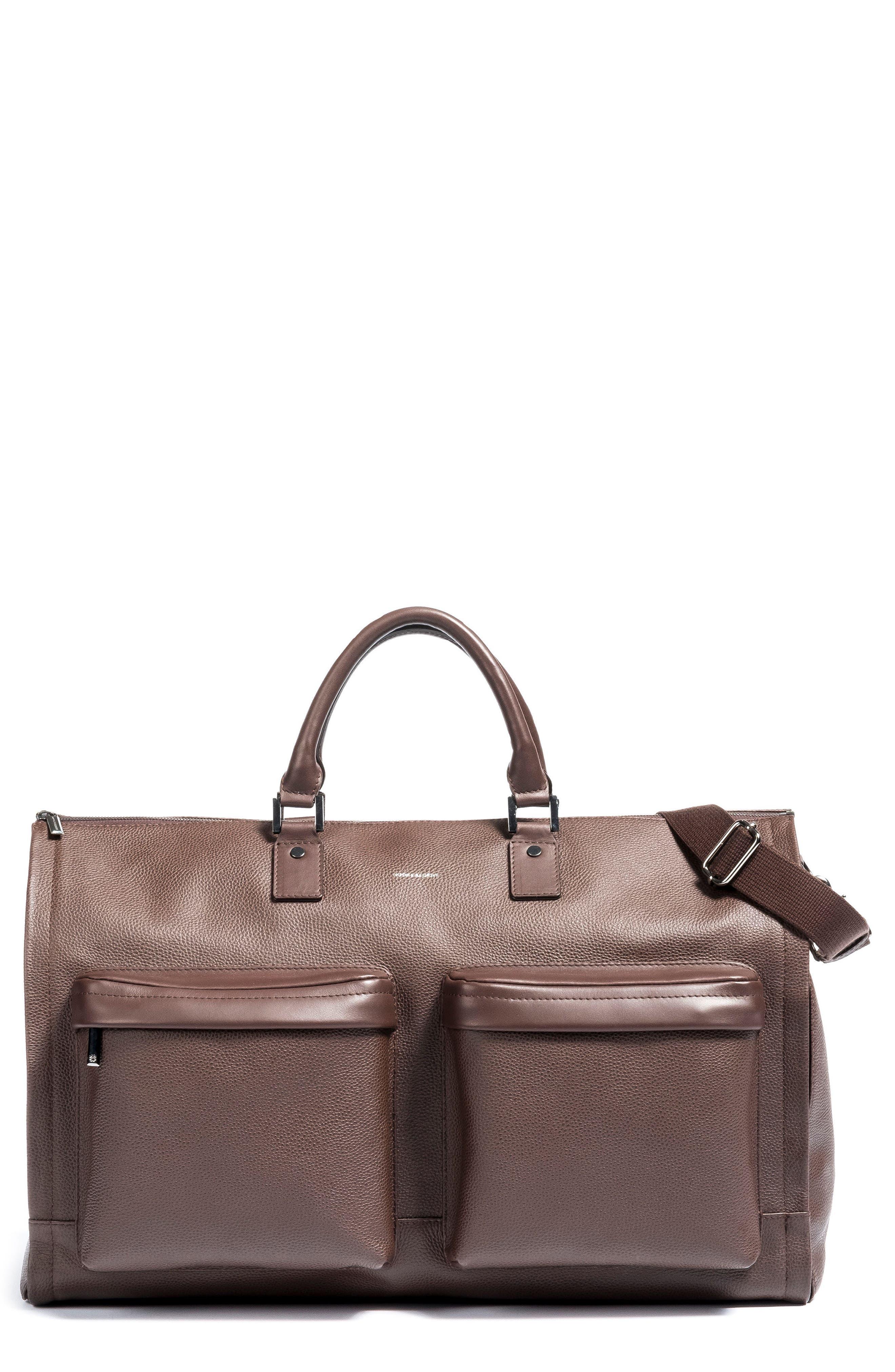 Alternate Image 1 Selected - hook + ALBERT Leather Garment Bag