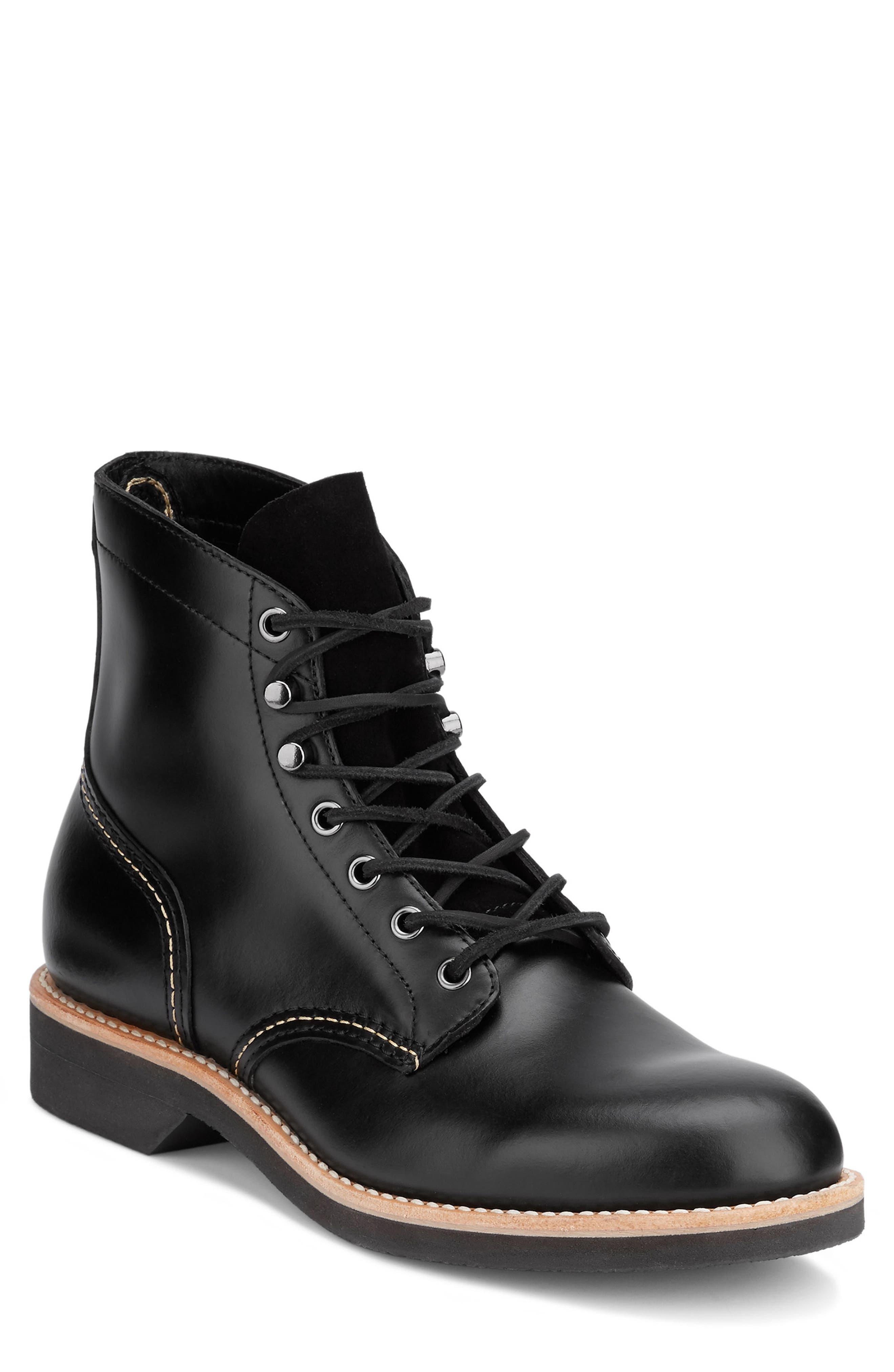 Reid Plain Toe Boot,                             Main thumbnail 1, color,                             Black