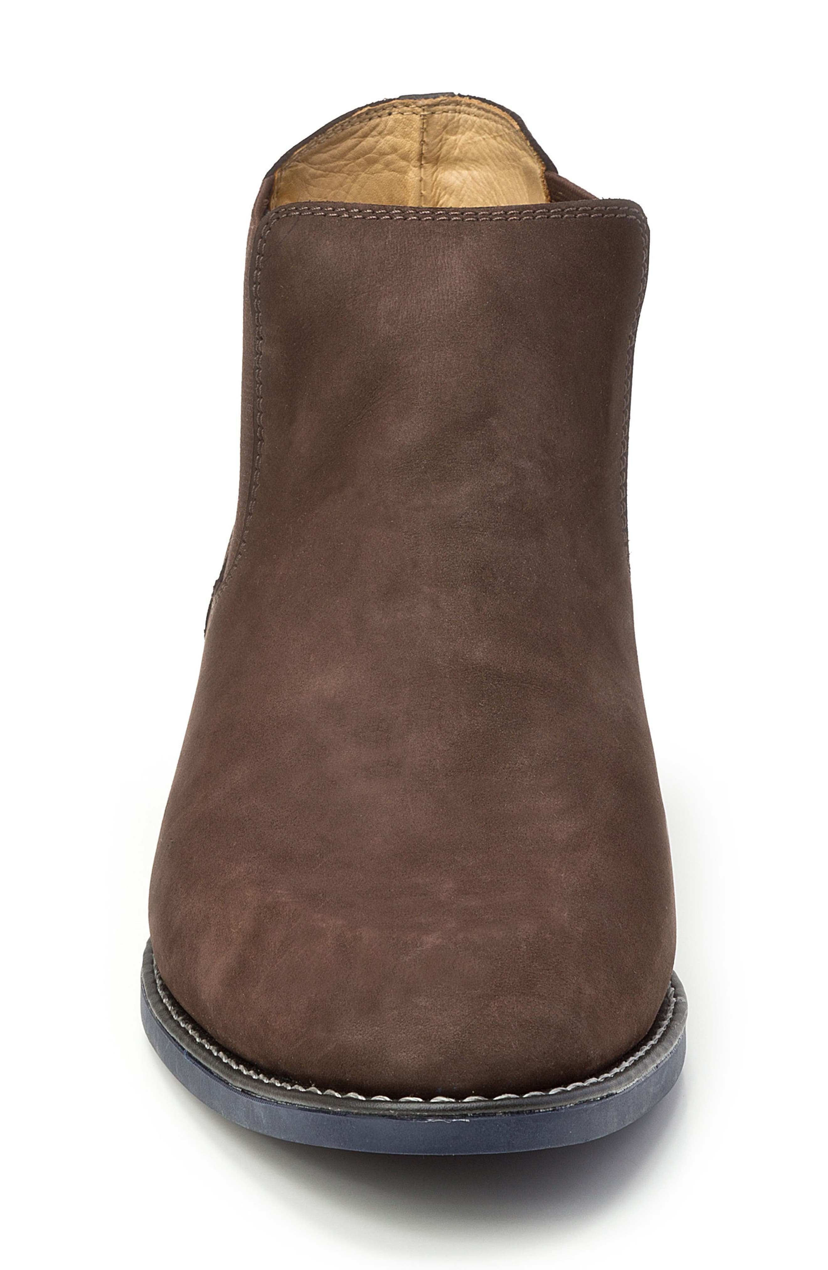 Marcus Chelsea Boot,                             Alternate thumbnail 4, color,                             Brown Nubuck Leather