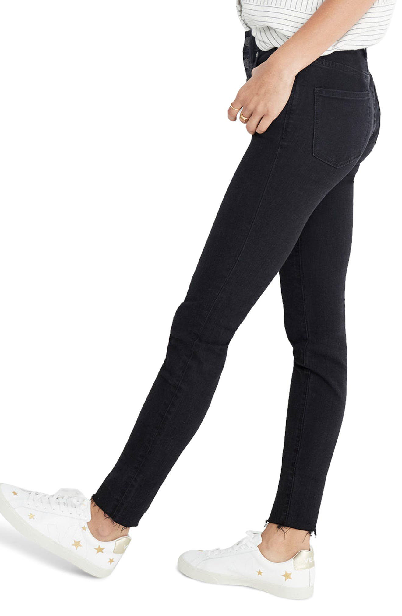 9-Inch Button High Waist Ankle Skinny Jeans,                             Alternate thumbnail 2, color,                             Berkeley Wash