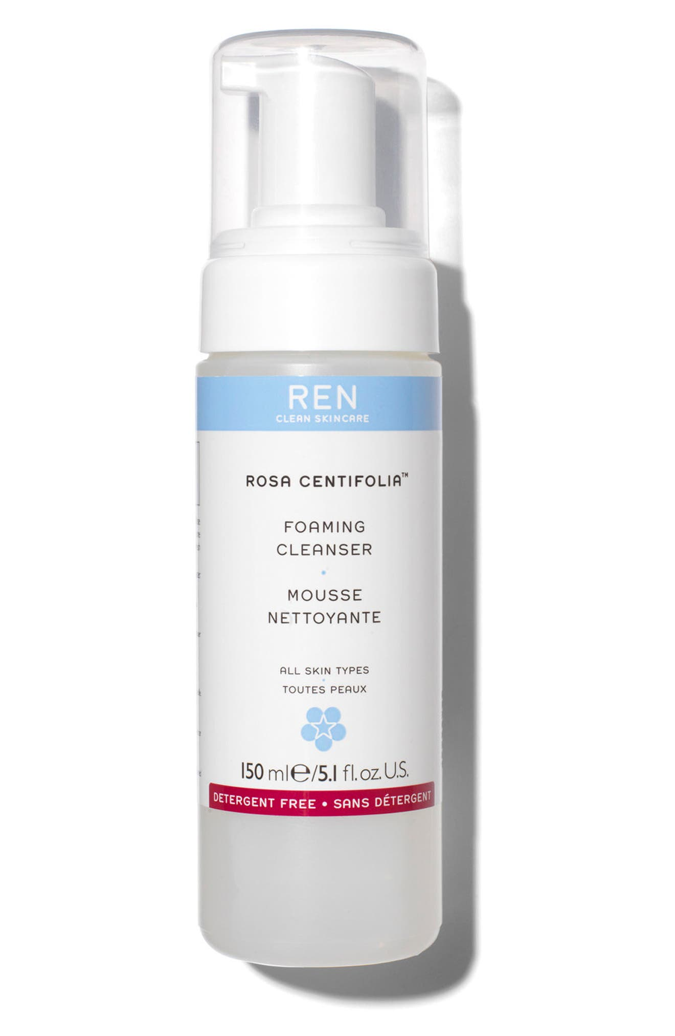 SPACE.NK.apothecary REN Rosa Centifolia<sup>™</sup> Foaming Cleanser,                             Main thumbnail 1, color,                             No Color