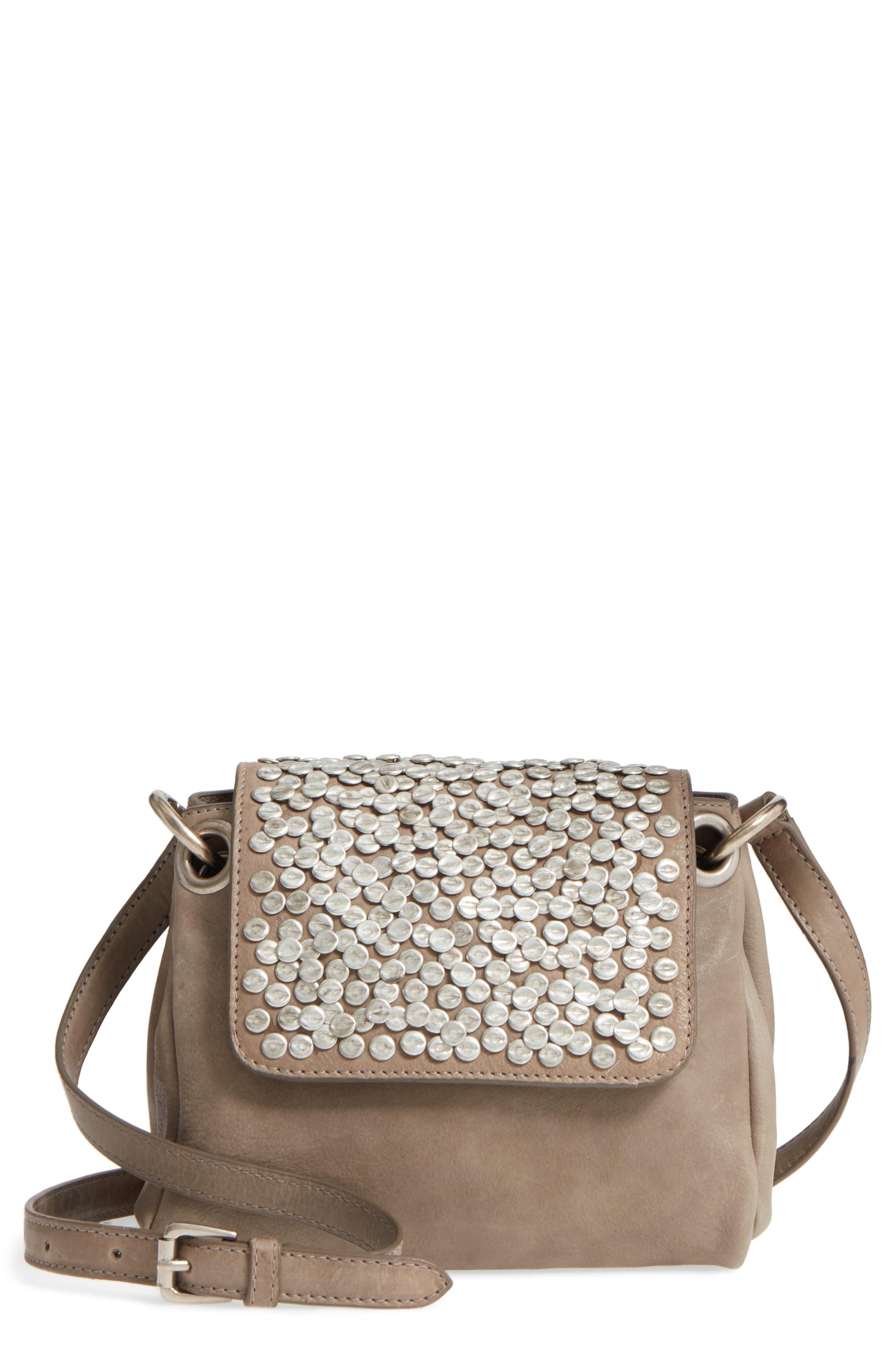 Céline Dion Cadence Crossbody Bag,                             Main thumbnail 1, color,                             Grey