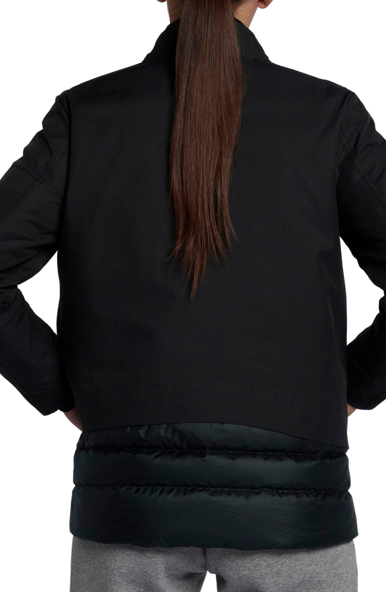 Sportswear AeroLoft 3-in-1 Down Jacket,                             Alternate thumbnail 4, color,                             Black/ Black/ Black