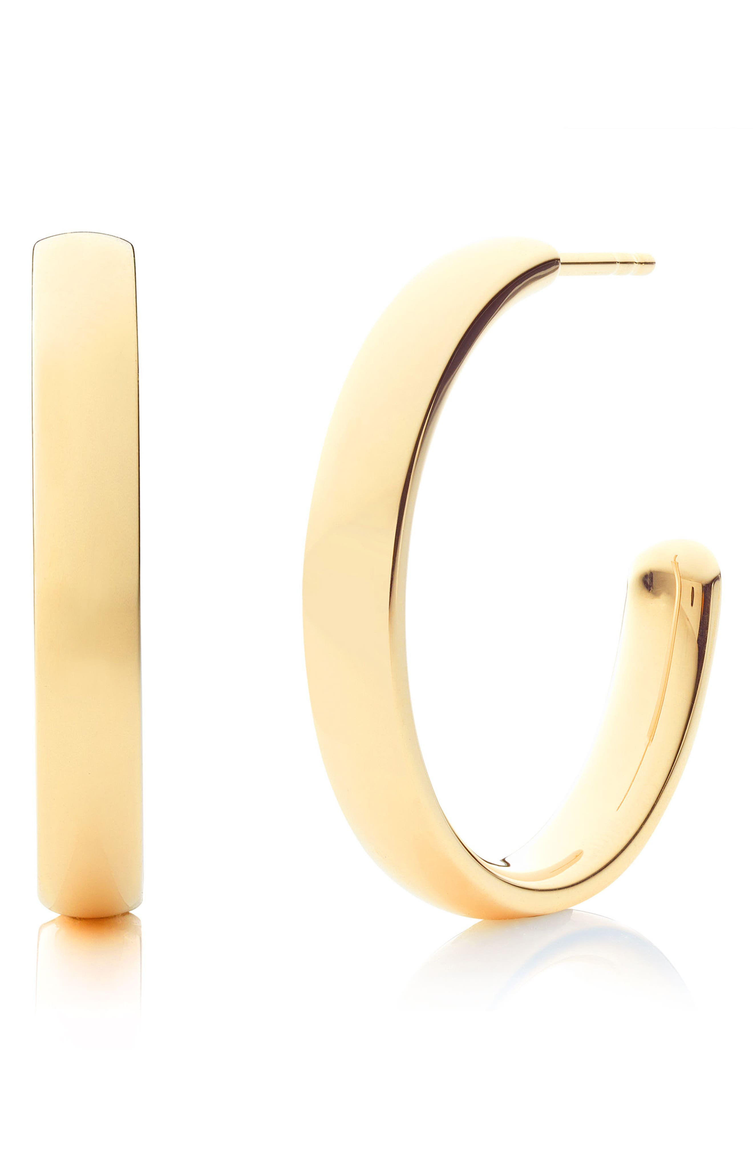 Fiji Large Hoop Earrings,                         Main,                         color, Gold