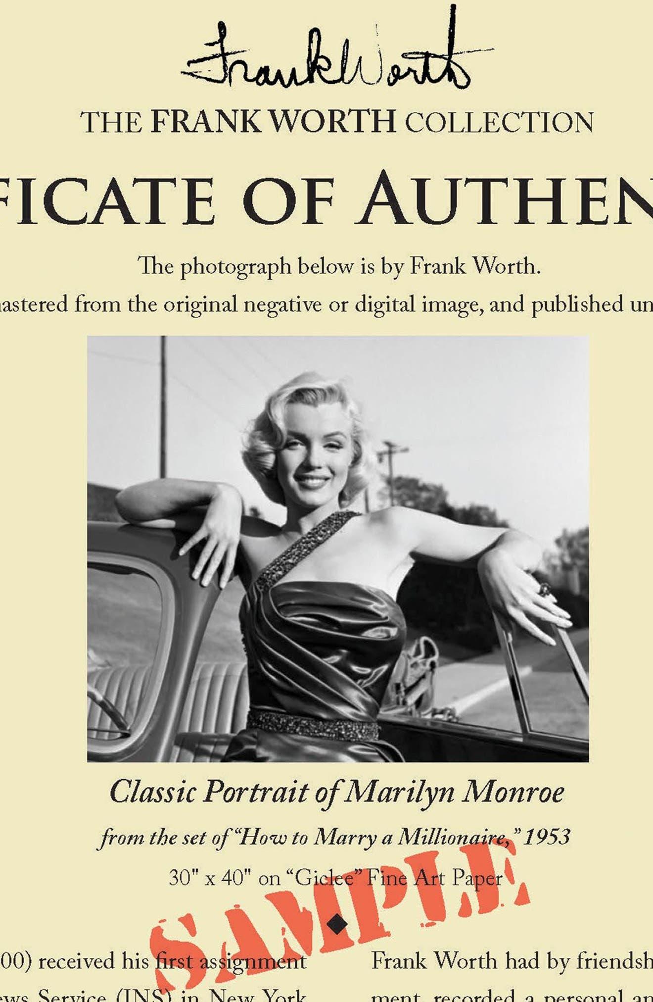 Marilyn Monroe Fine Art Print,                             Alternate thumbnail 4, color,                             Black