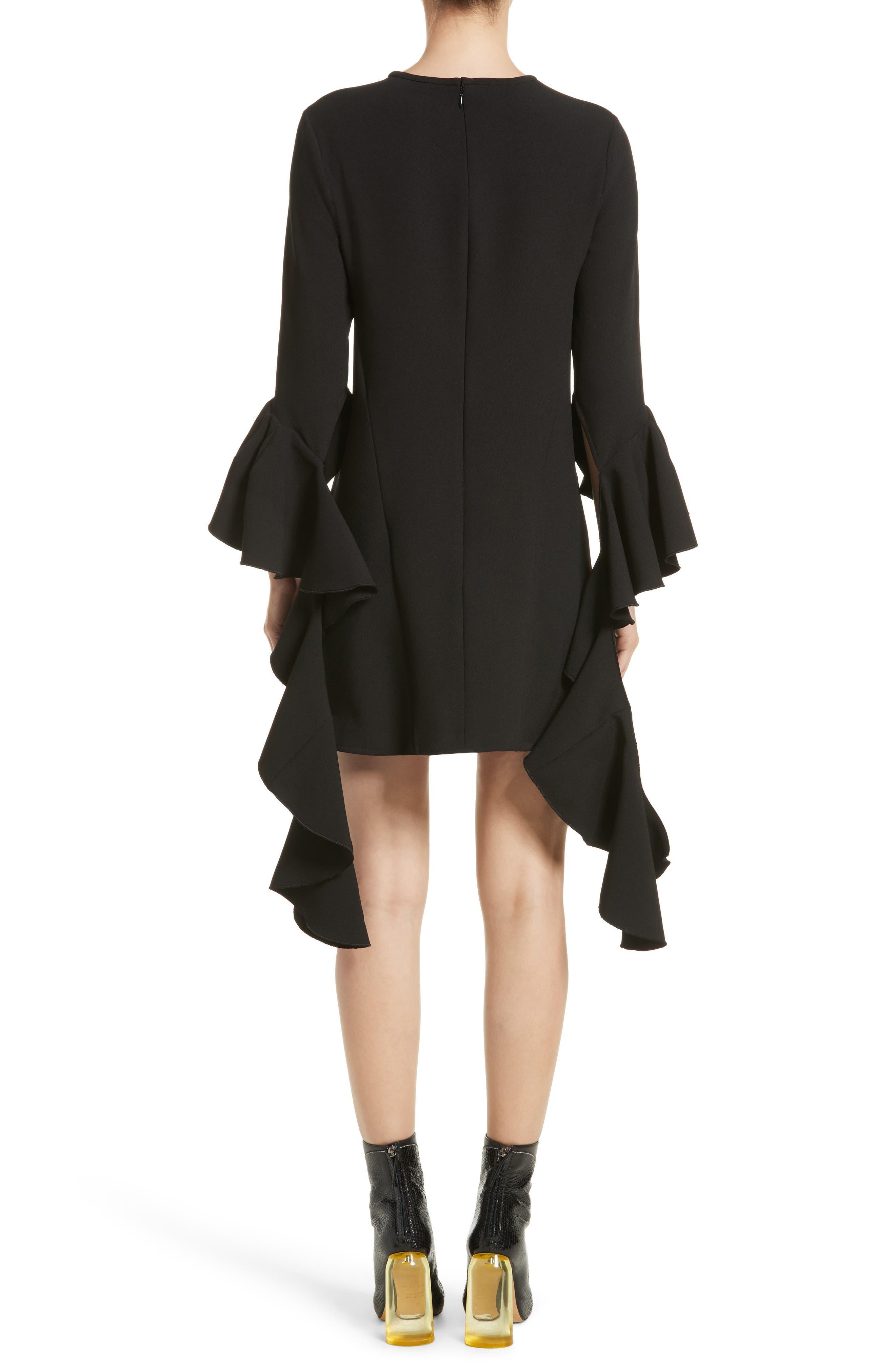 Kilkenny Frill Sleeve Minidress,                             Alternate thumbnail 2, color,                             Black