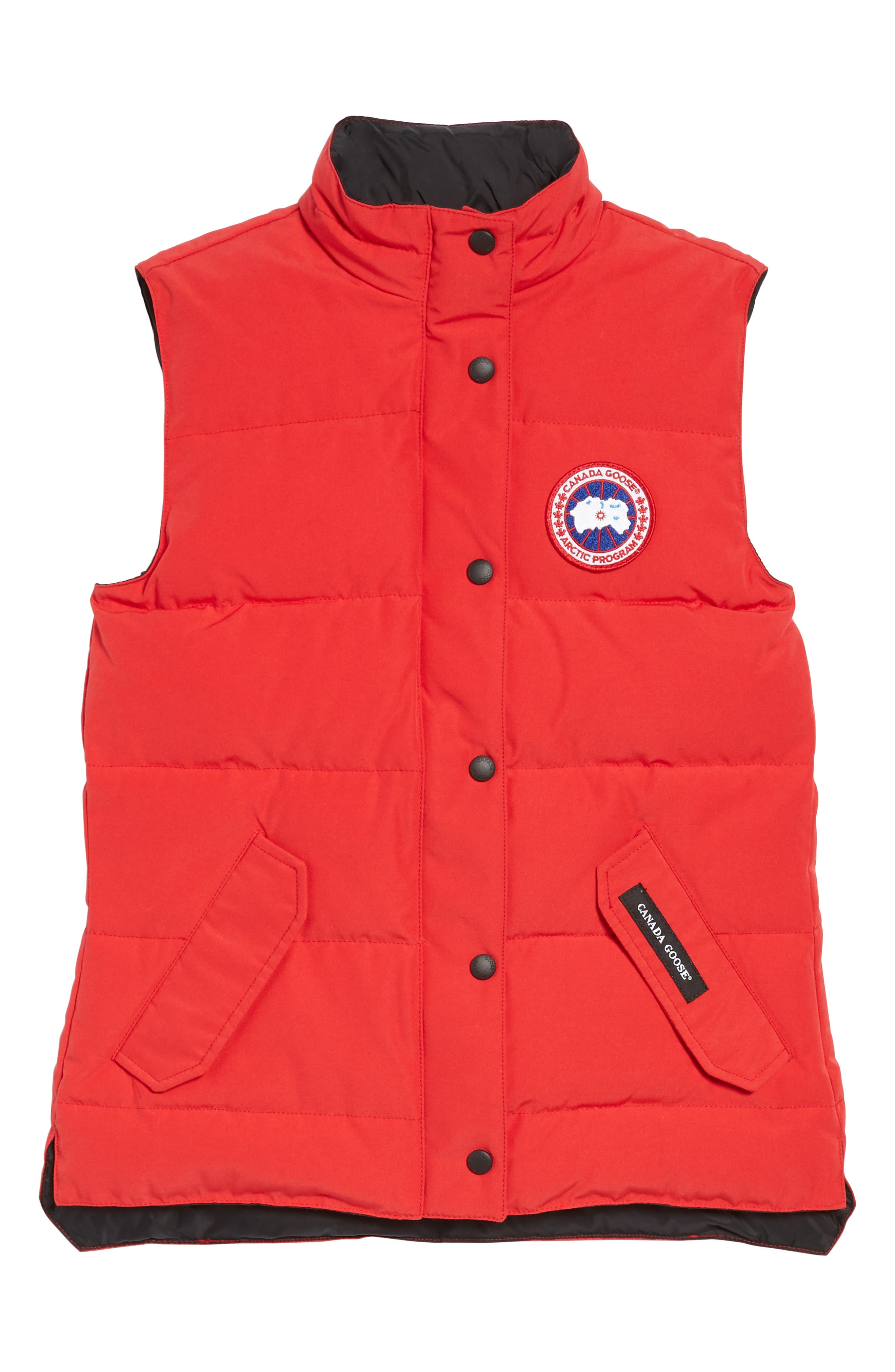 'Freestyle' Slim Fit Down Vest,                         Main,                         color, Red