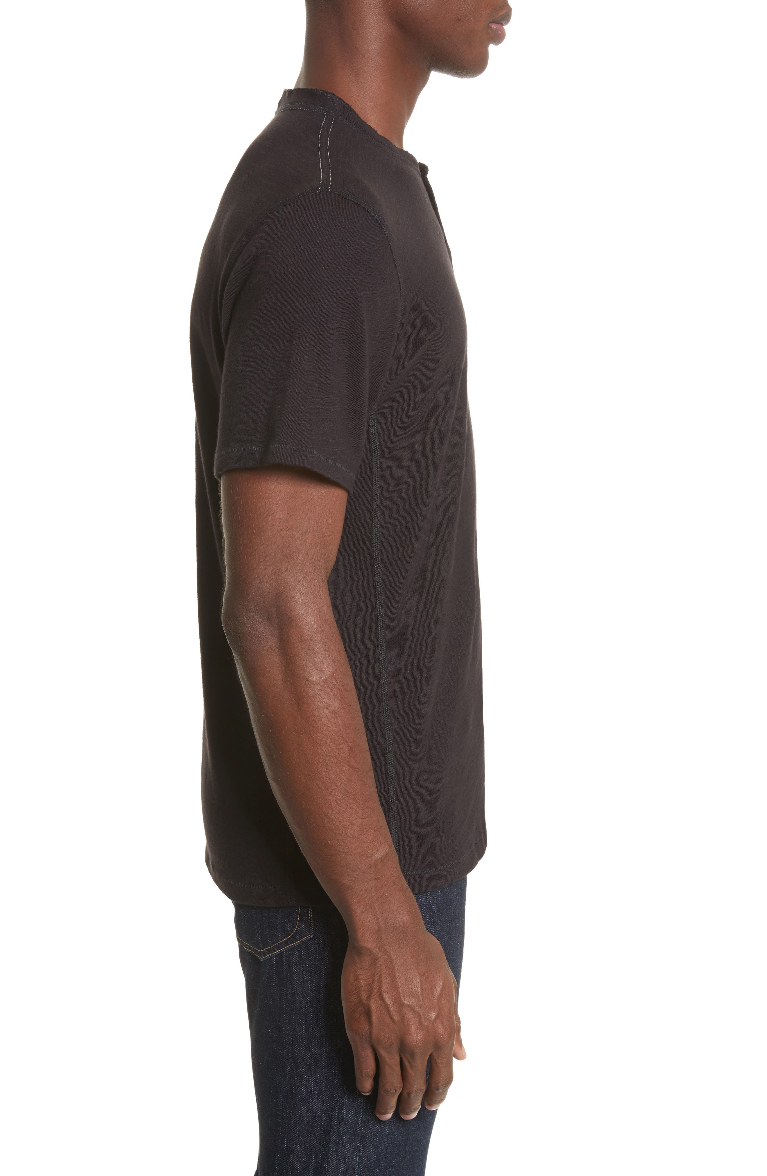 Standard Issue Henley T-Shirt,                             Alternate thumbnail 3, color,                             Black