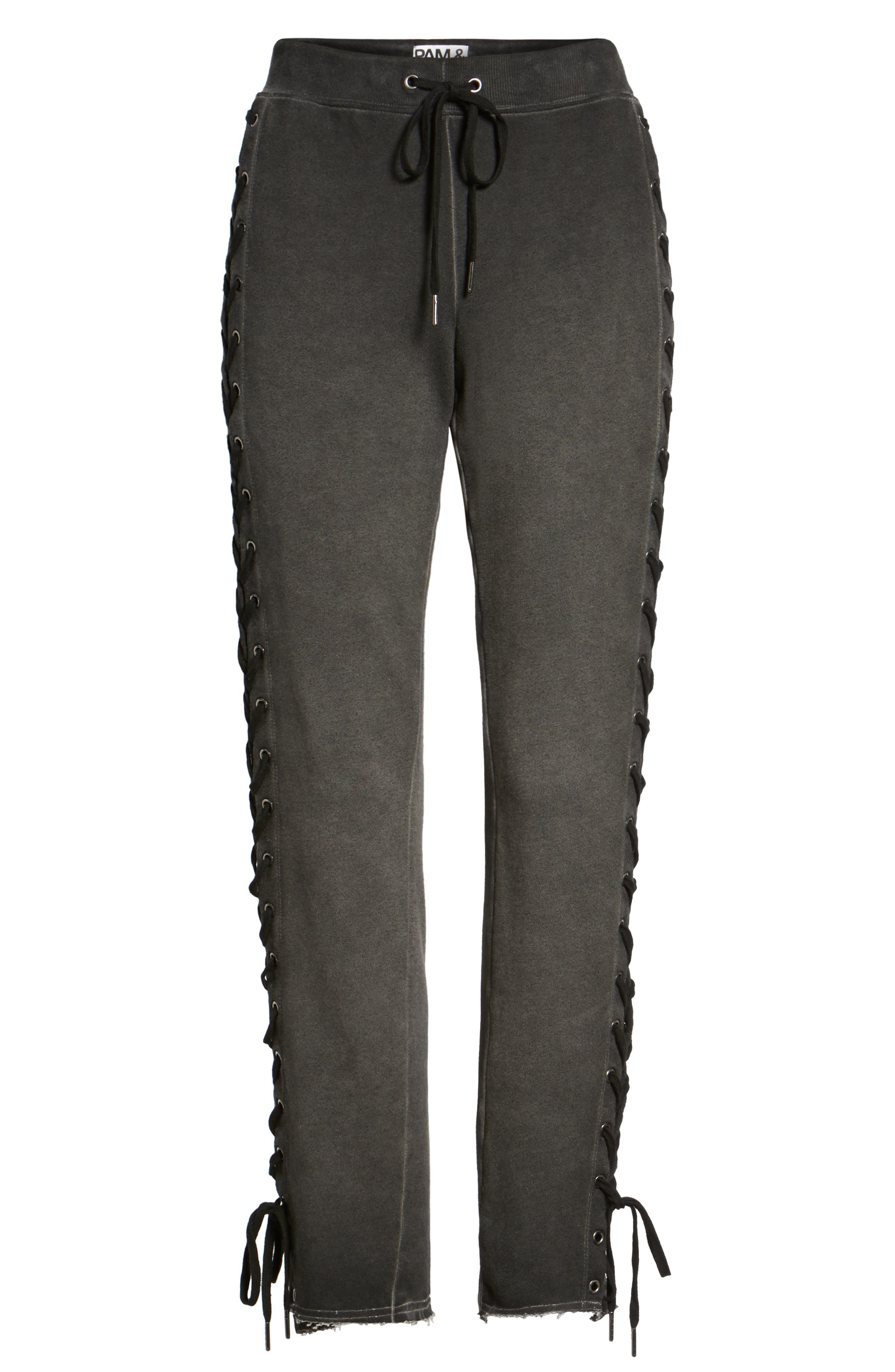 Alternate Image 6  - Pam & Gela Lace-Up Sweatpants