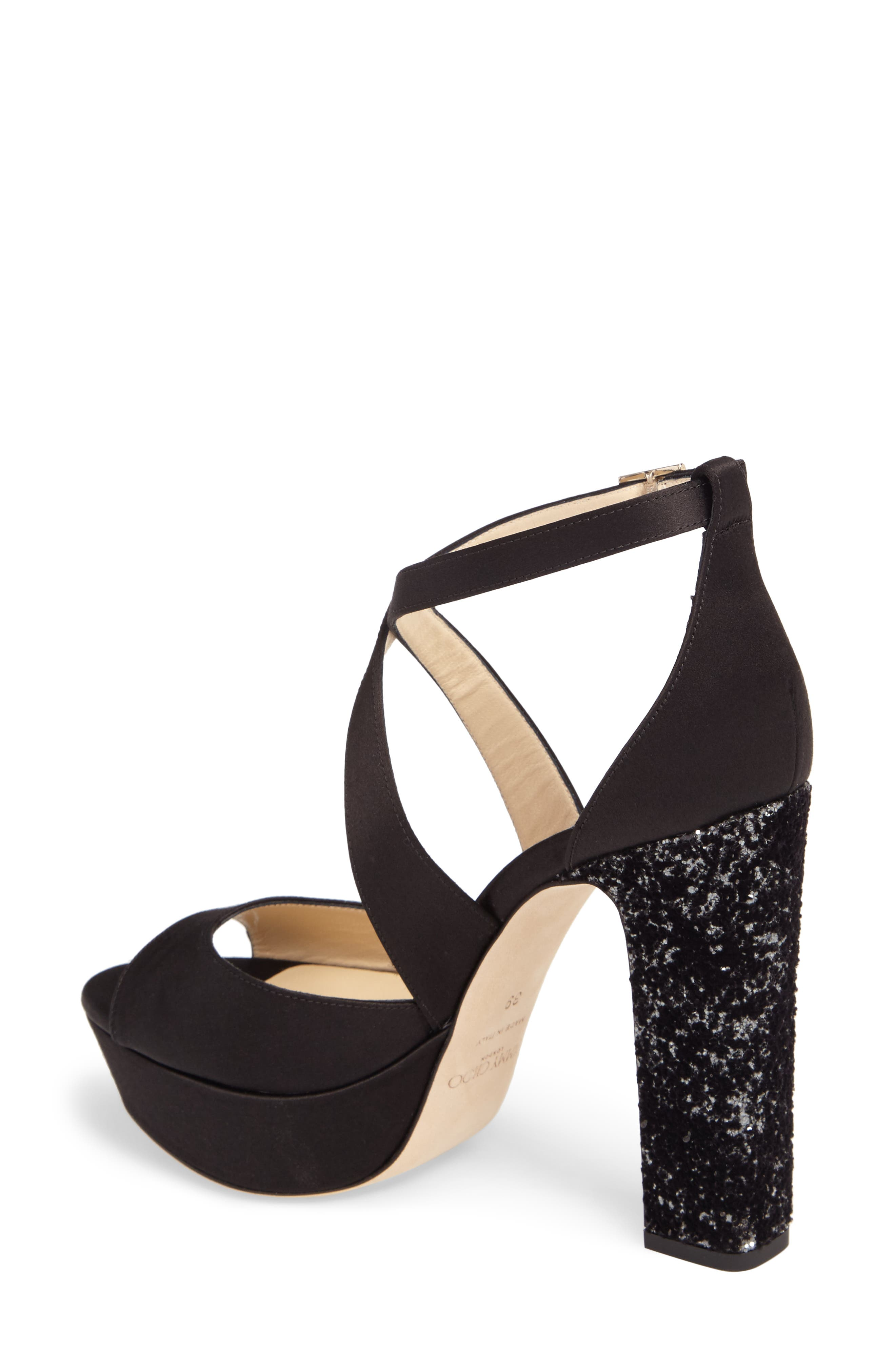 April Platform Sandal,                             Alternate thumbnail 2, color,                             Black/ Anthracite/ Black