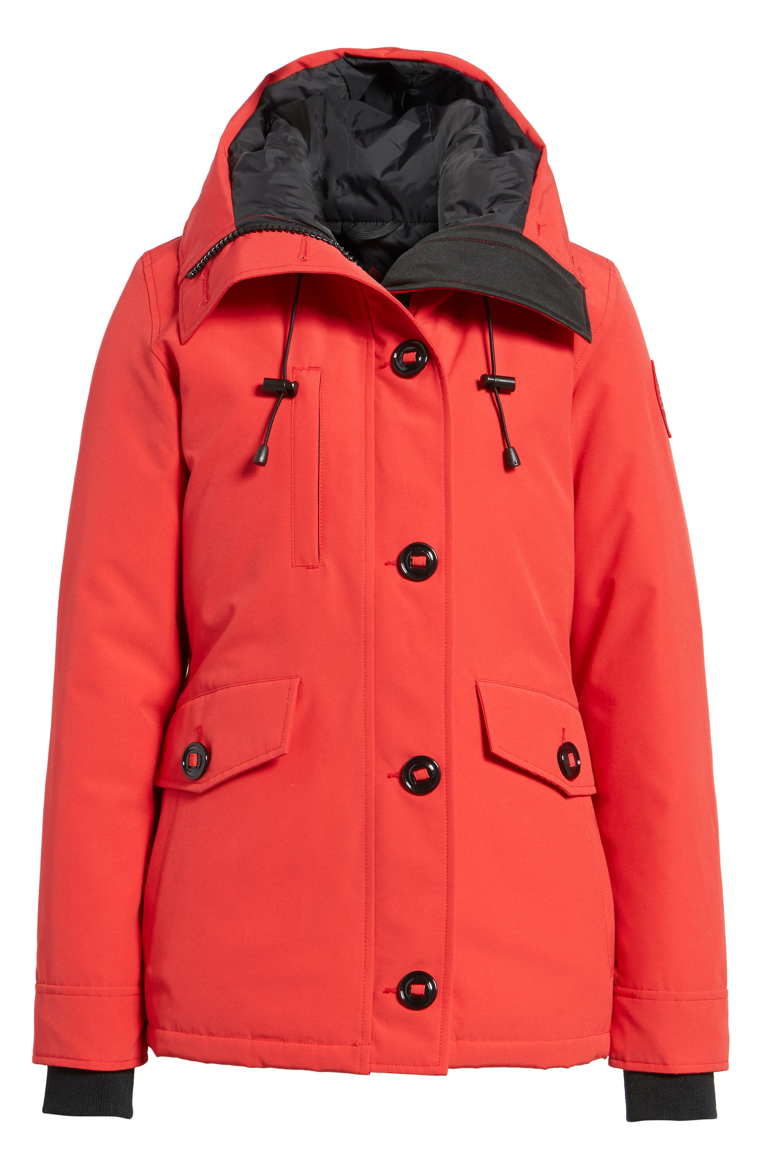 'Rideau' Slim Fit Down Parka,                             Alternate thumbnail 7, color,                             Red