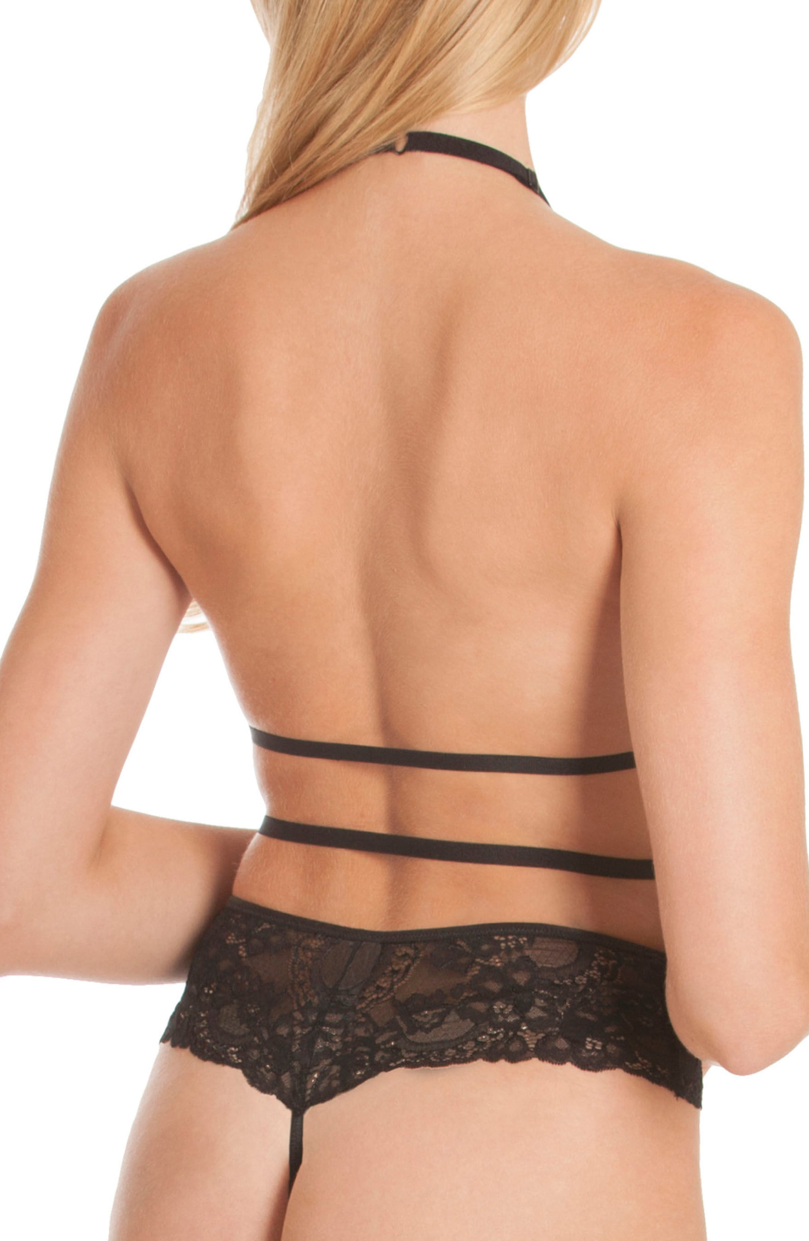 Mirage Lace Teddy,                             Alternate thumbnail 2, color,                             Black