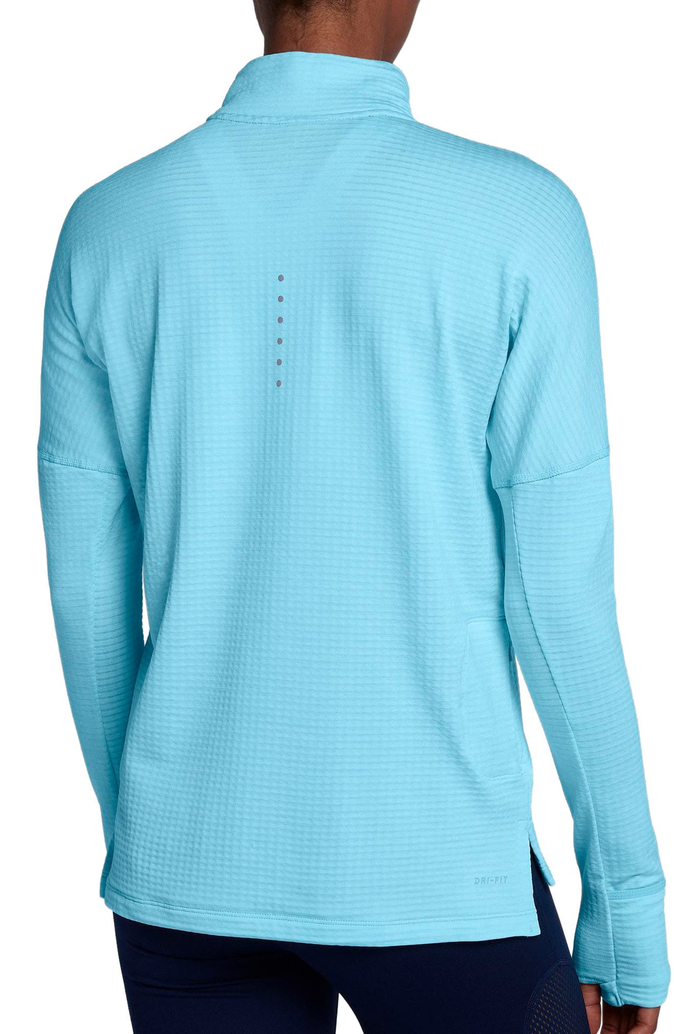 Therma Sphere Element Running Pullover Top,                             Alternate thumbnail 2, color,                             Polarized Blue/ Htr