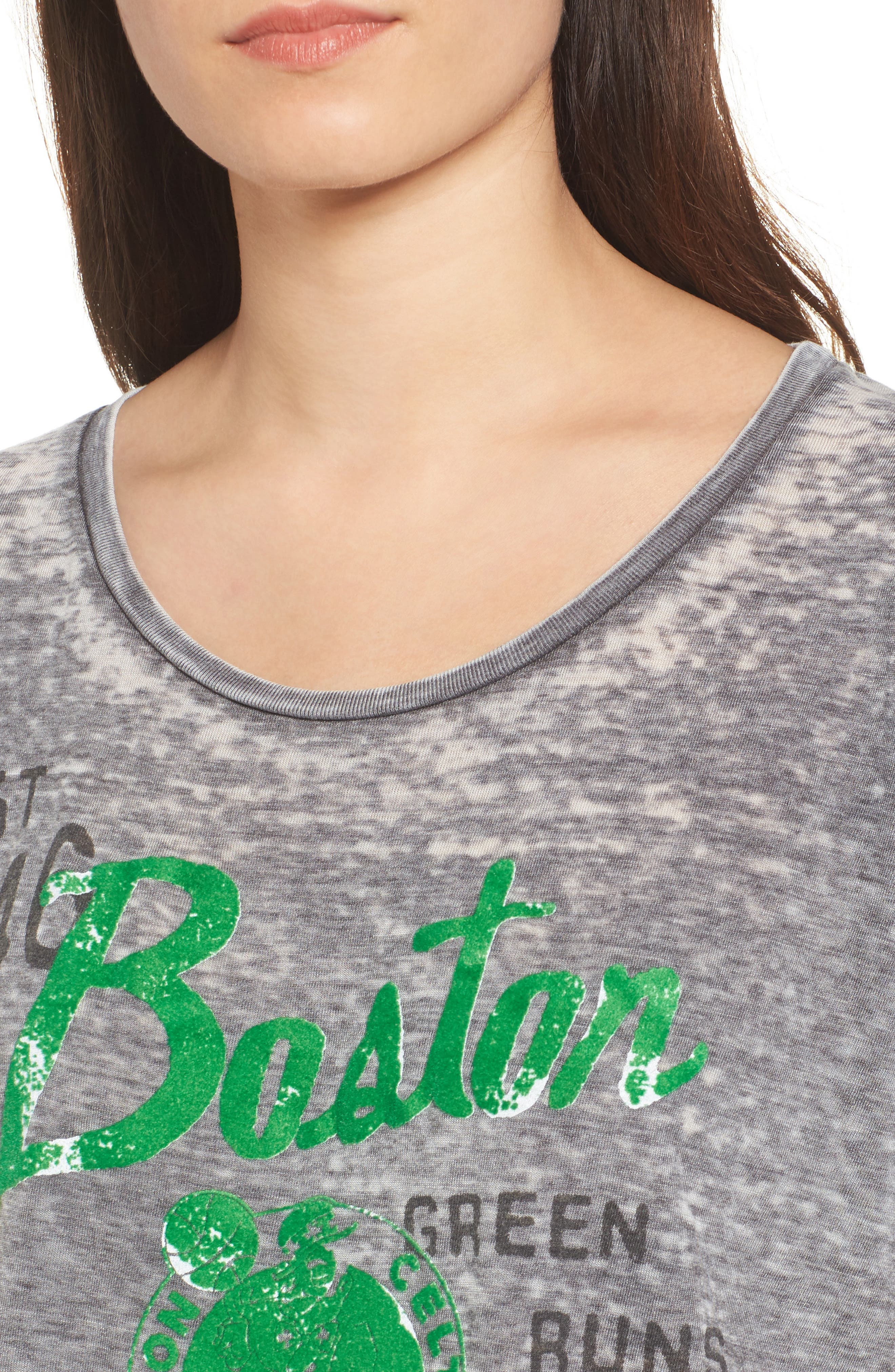 NBA Boston Celtics Burnout Tee,                             Alternate thumbnail 4, color,                             Black Wash
