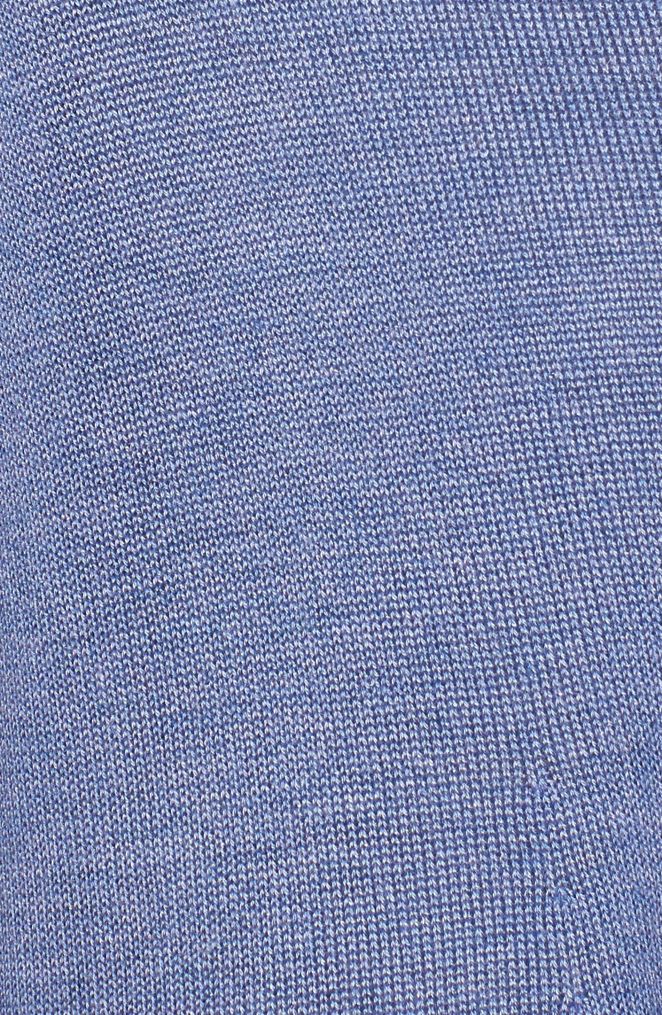 Tencel<sup>®</sup> Lyocell & Merino Wool Shaped Cardigan,                             Alternate thumbnail 5, color,                             Periwinkle