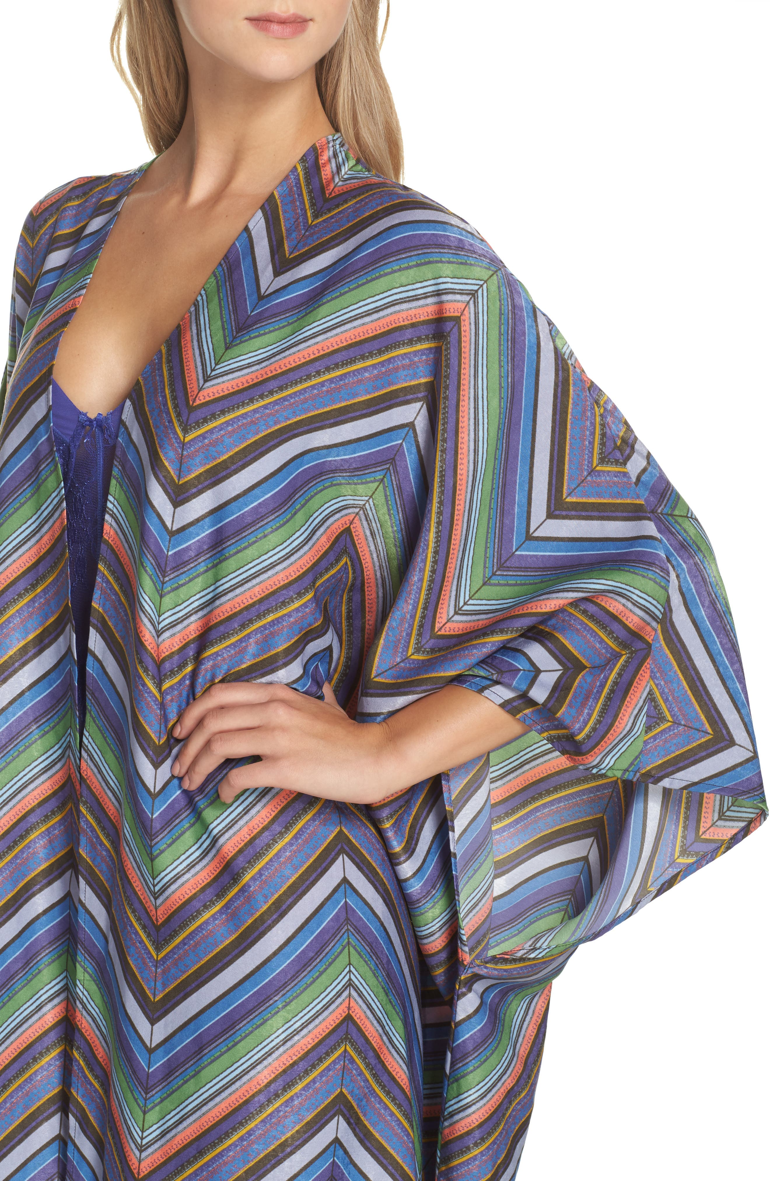 Mojave Limono Robe,                             Alternate thumbnail 4, color,                             Blue Combo
