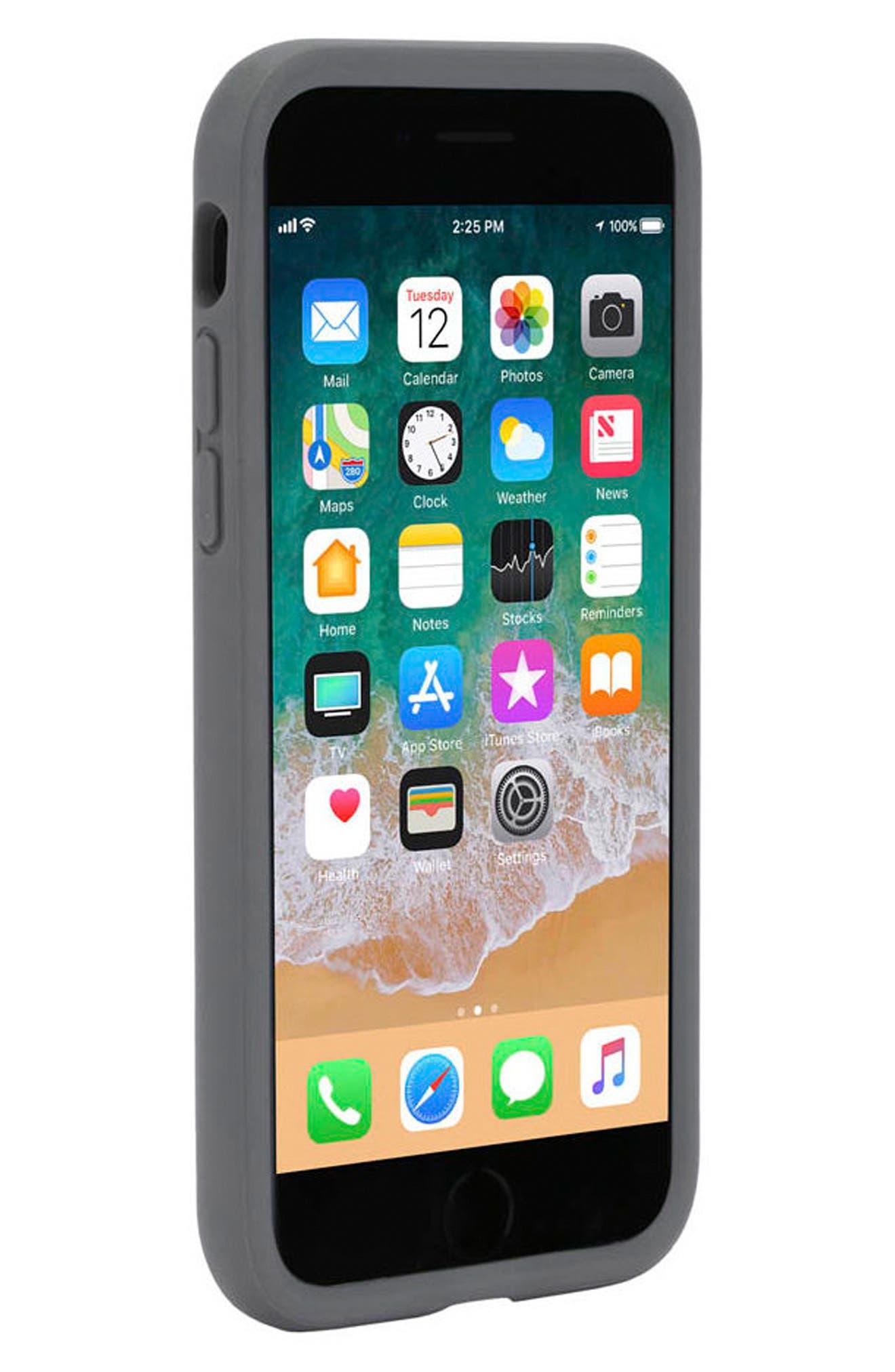 Icon iPhone 7/8 Case,                             Alternate thumbnail 6, color,                             Gunmetal