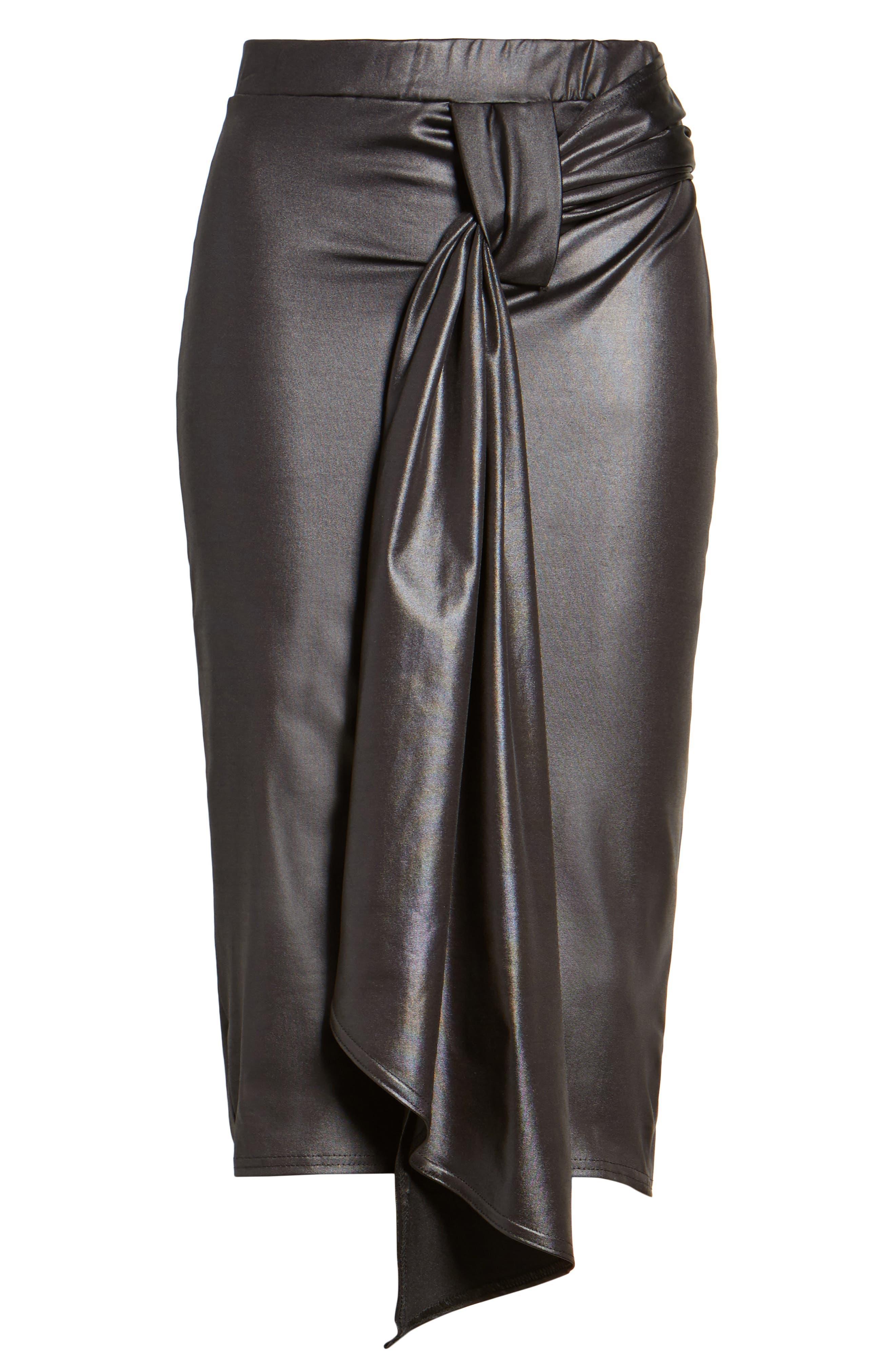 Alternate Image 7  - LOST INK Coated Cocktail Skirt