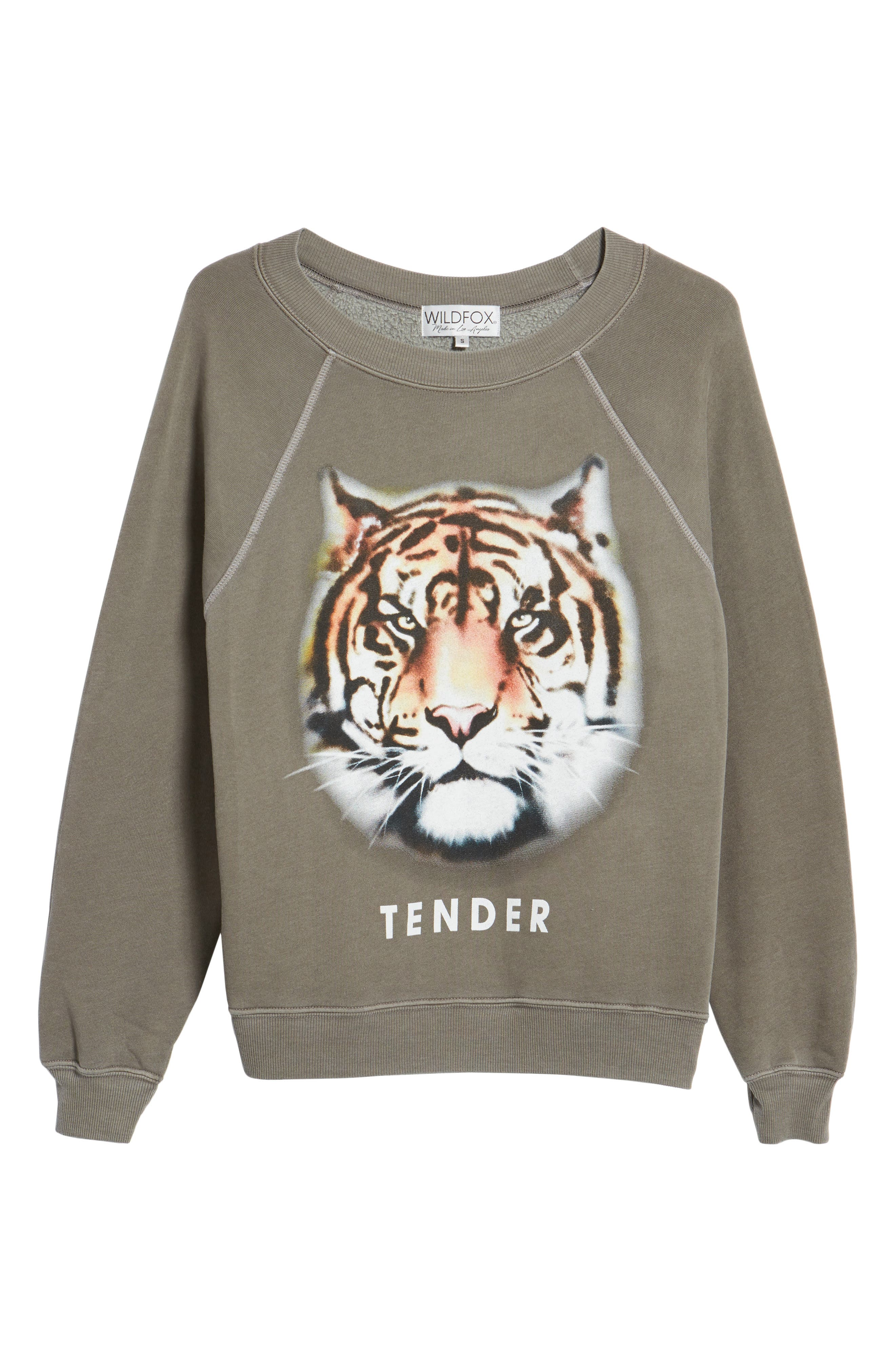 Tender - Sommers Sweatshirt,                             Alternate thumbnail 7, color,                             Od Green