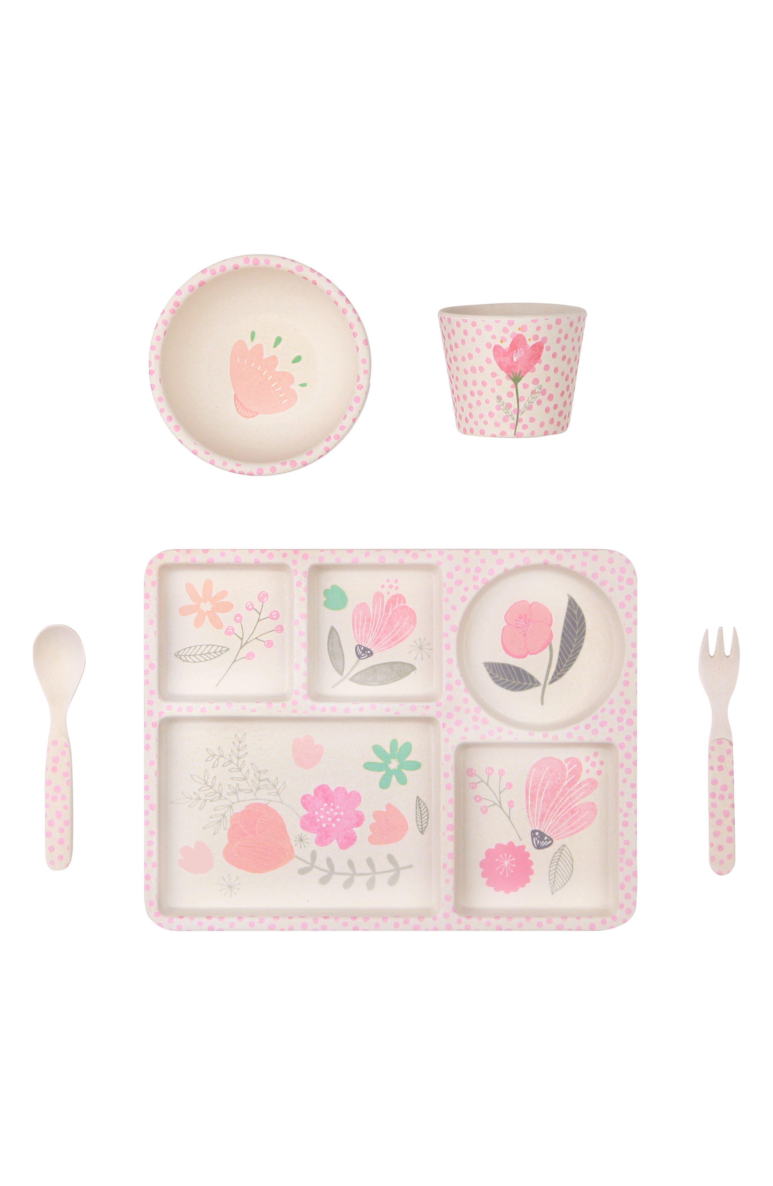5-Piece Dinnerware Set,                             Main thumbnail 1, color,                             Flower Garden