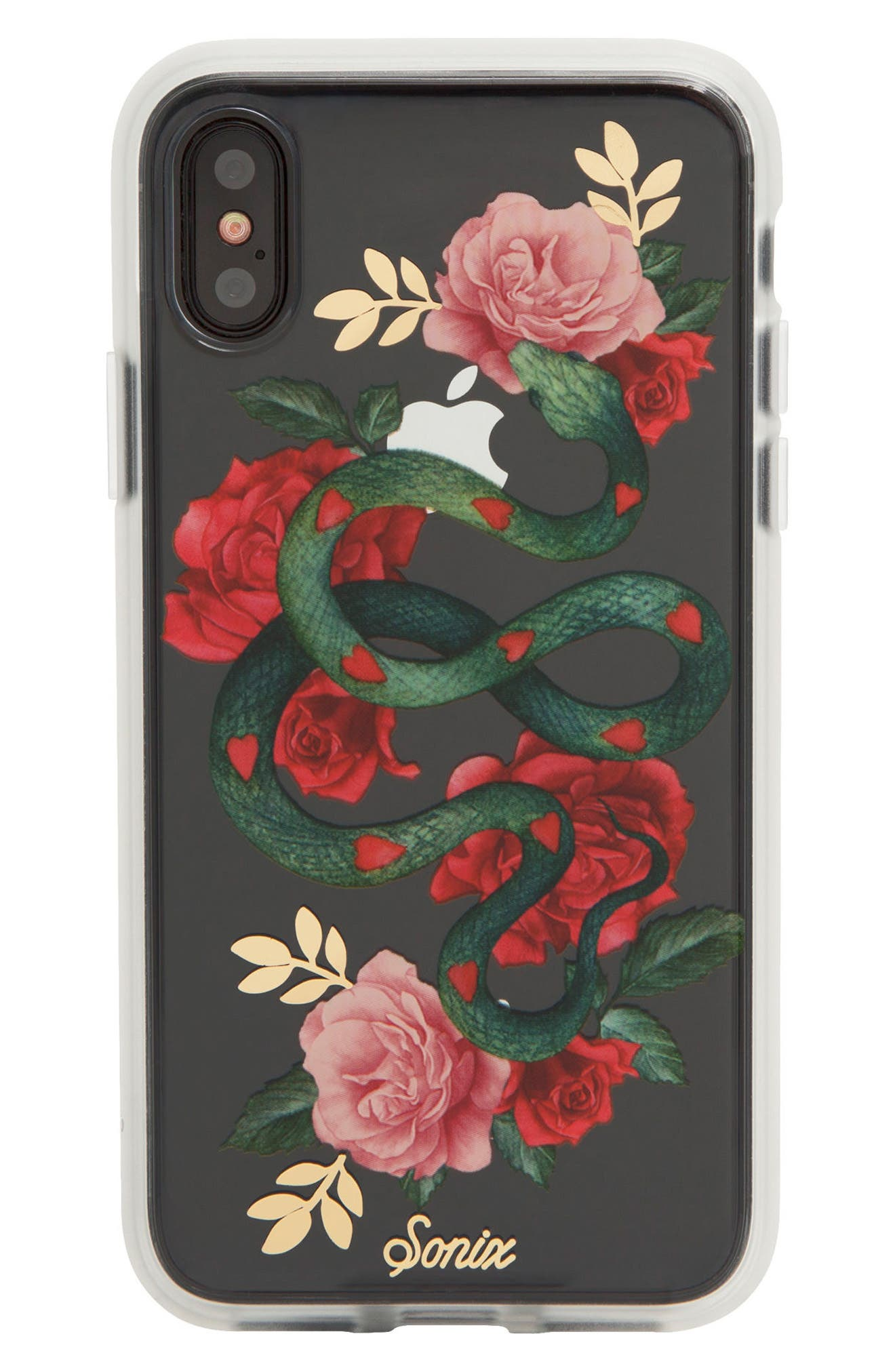 Alternate Image 2  - Sonix Snake Heart Print iPhone X Case