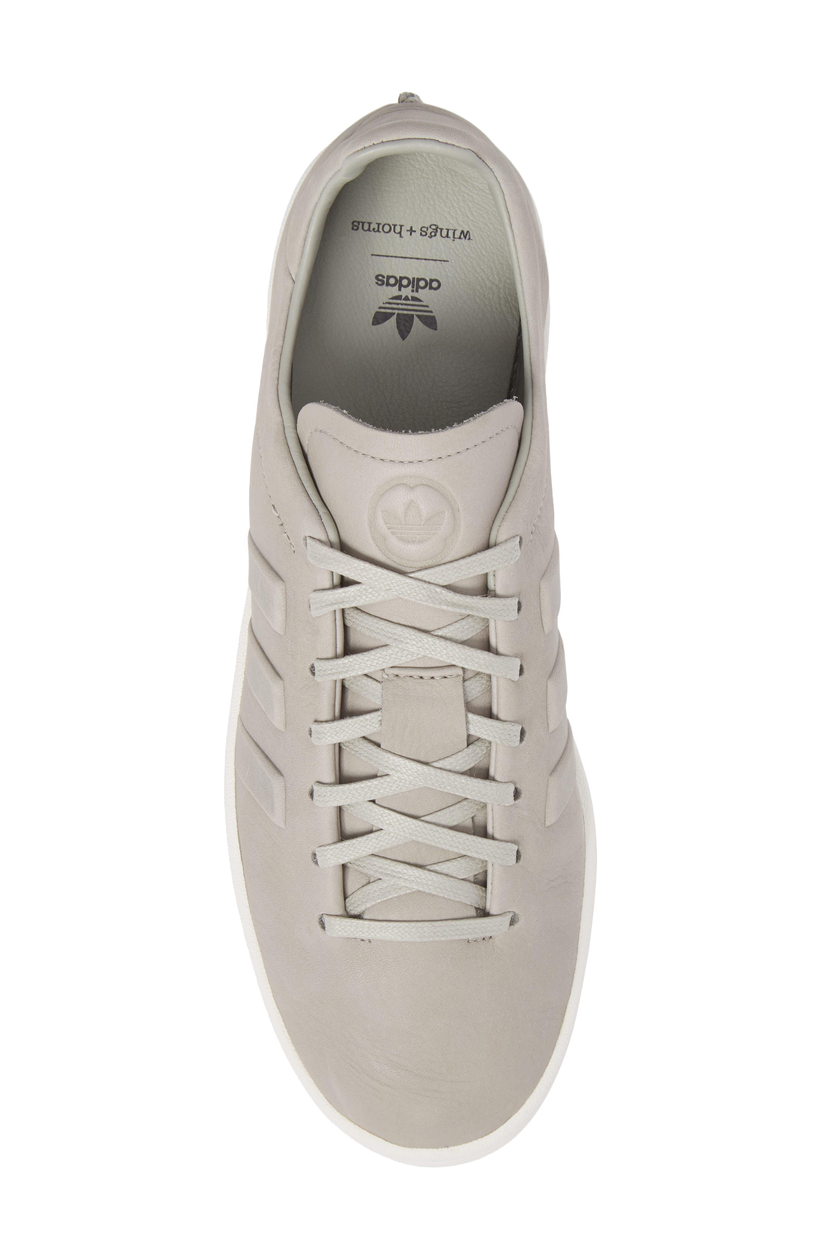Low Top Sneaker,                             Alternate thumbnail 5, color,                             Sesame/ Chalk White