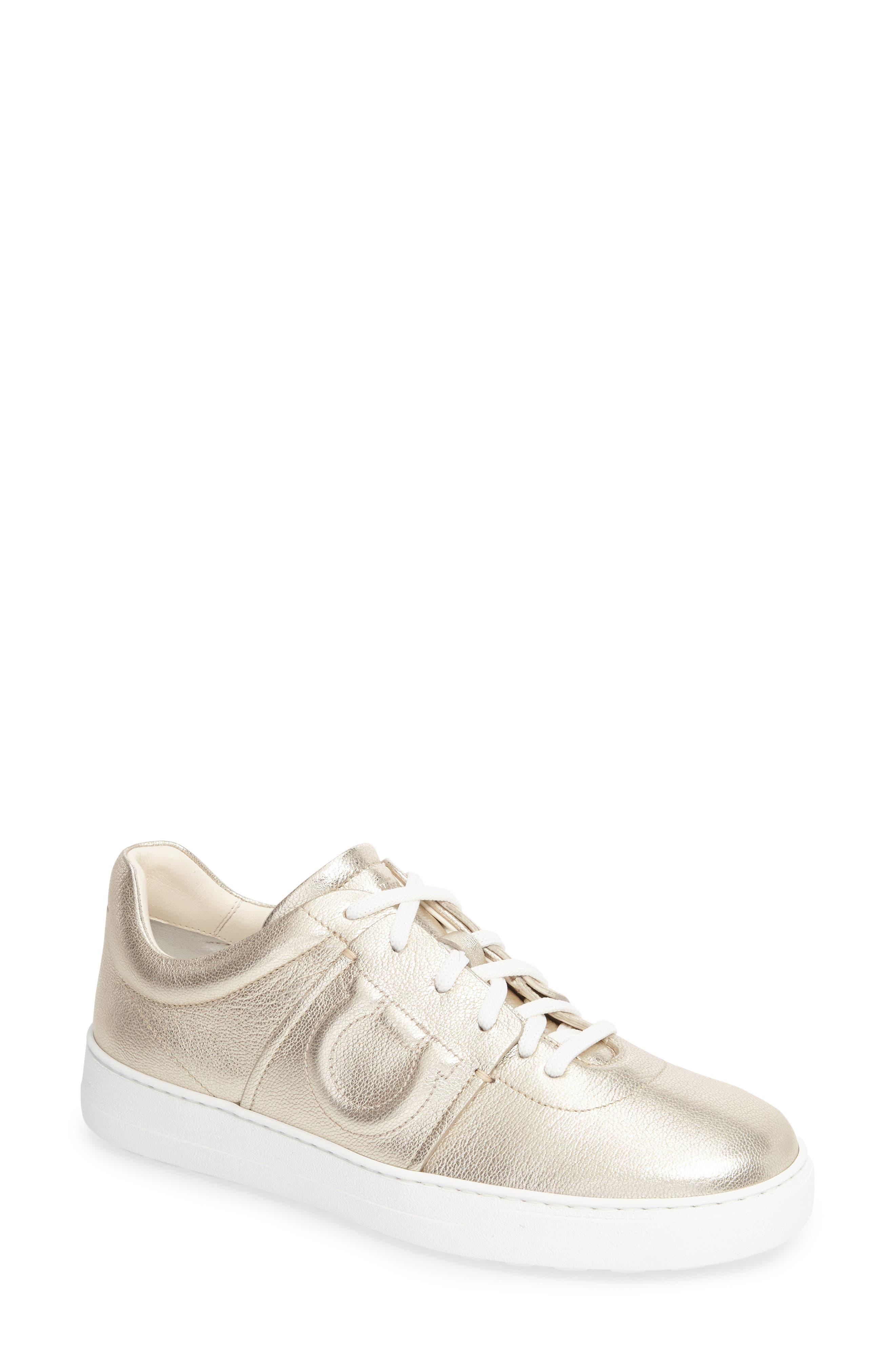 Salvatore Ferragamo Gancio Print Sneaker (Women)