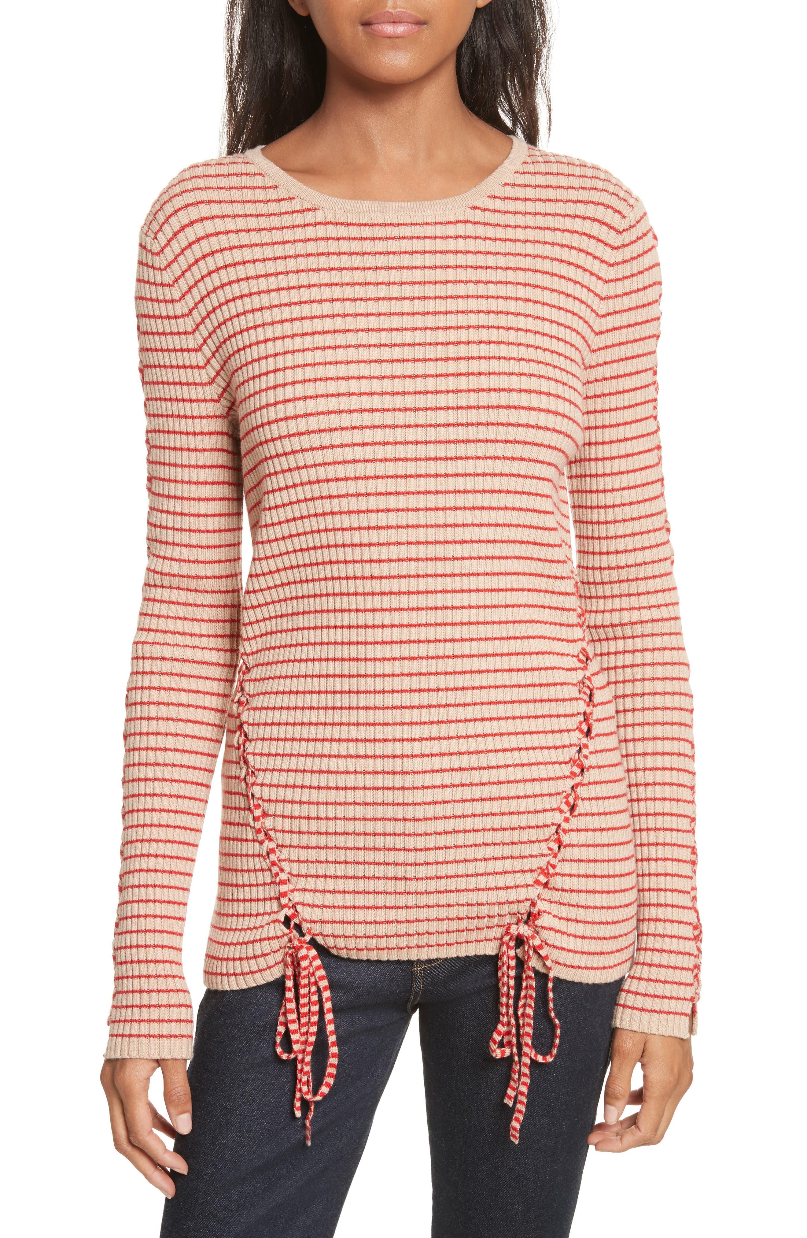 Main Image - Tabula Rasa Palos Lace-Up Stretch Wool Top