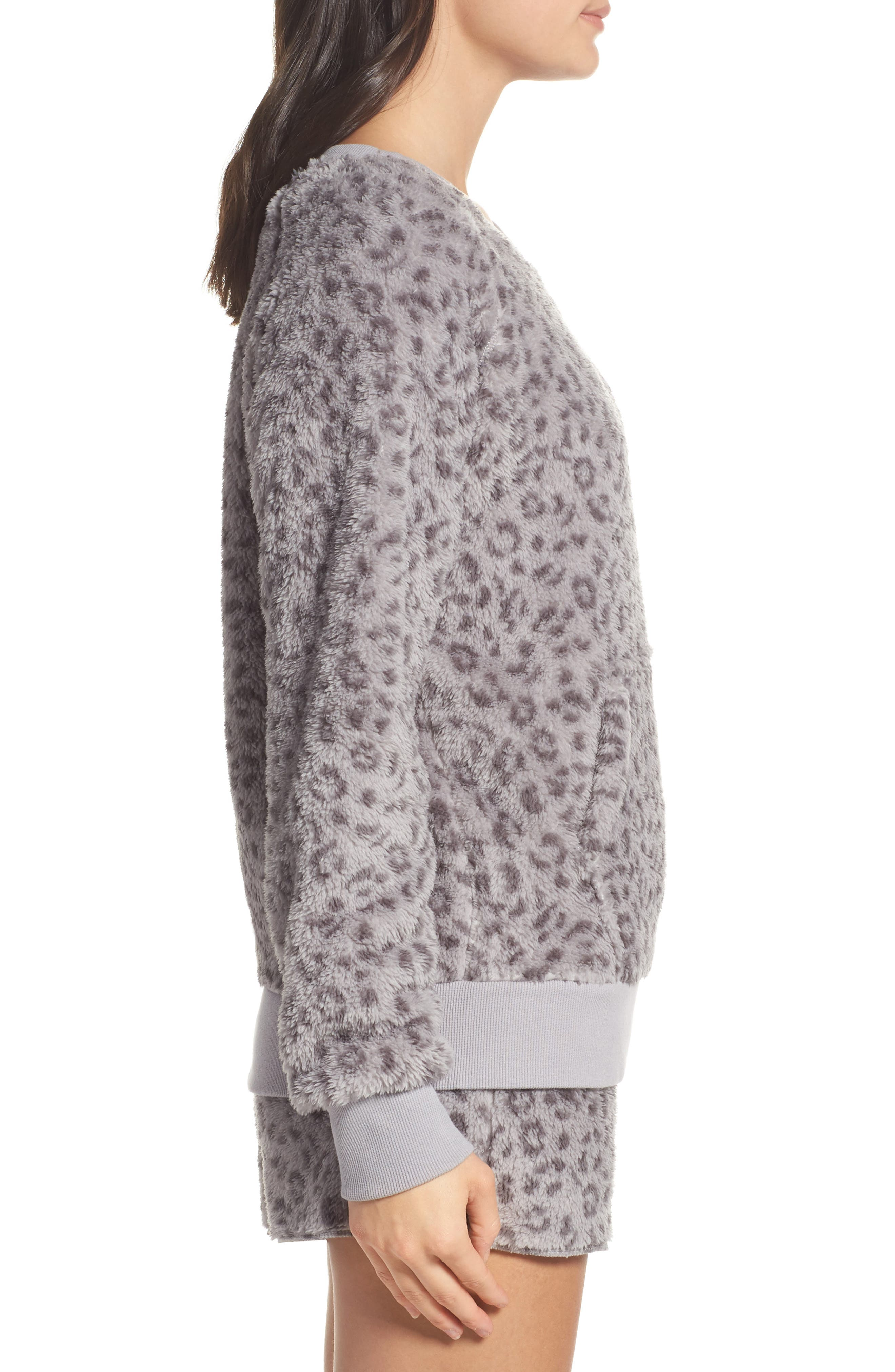 Plush Pajamas,                             Alternate thumbnail 3, color,                             Leopard