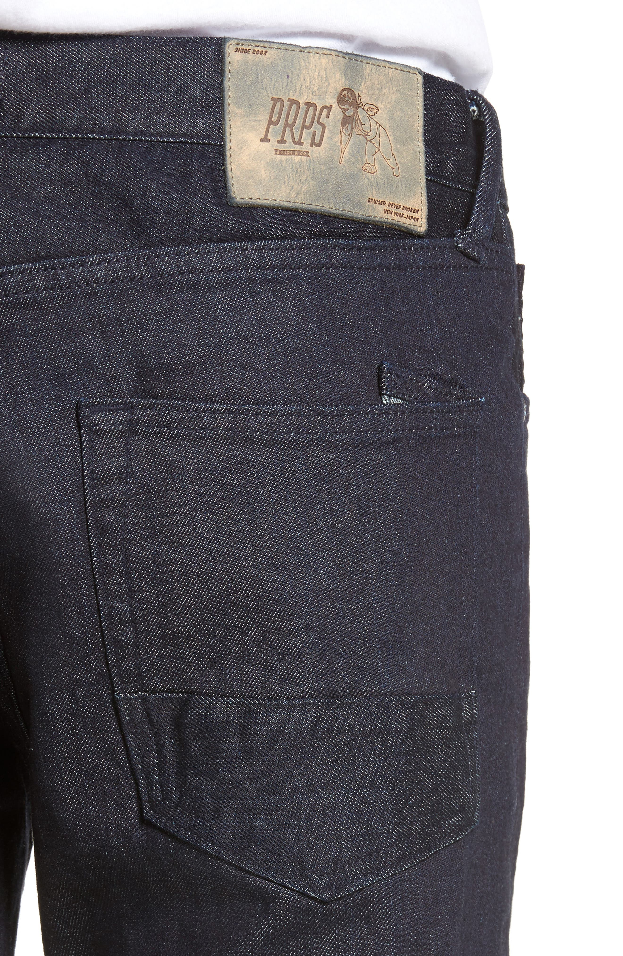 Demon Slim Straight Leg Jeans,                             Alternate thumbnail 4, color,                             Rinse