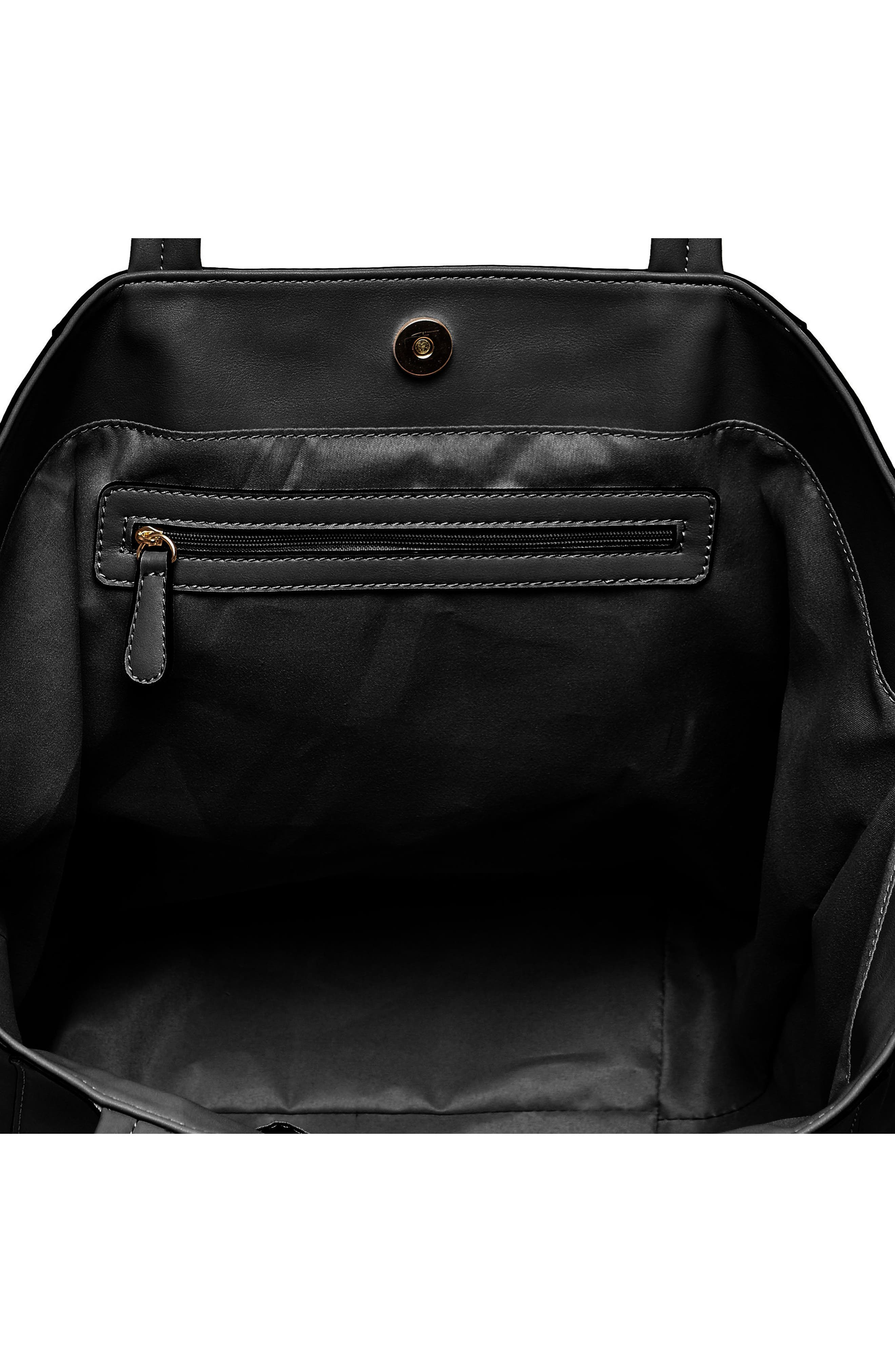 Every Girl Vegan Leather Tote,                             Alternate thumbnail 2, color,                             Black