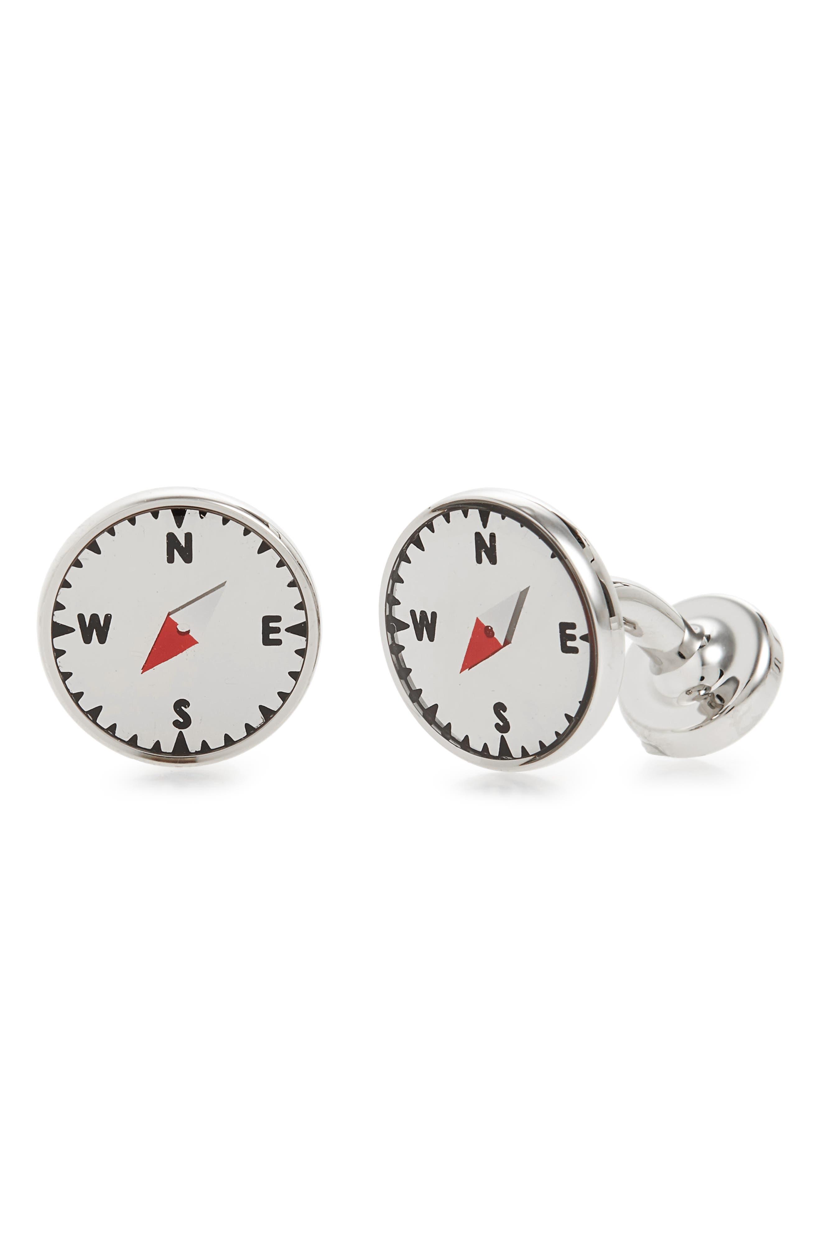 BOSS Compass Cuff Links