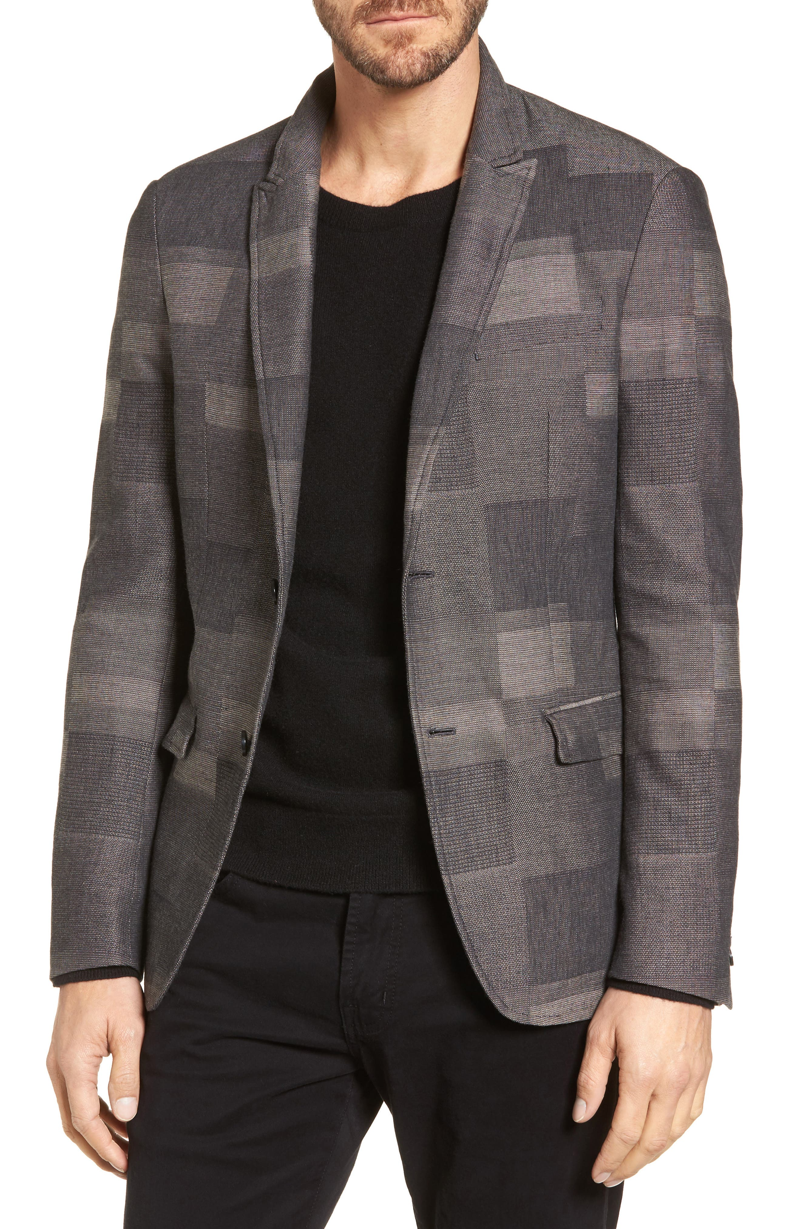 Cotton & Linen Sport Coat,                         Main,                         color, Cement