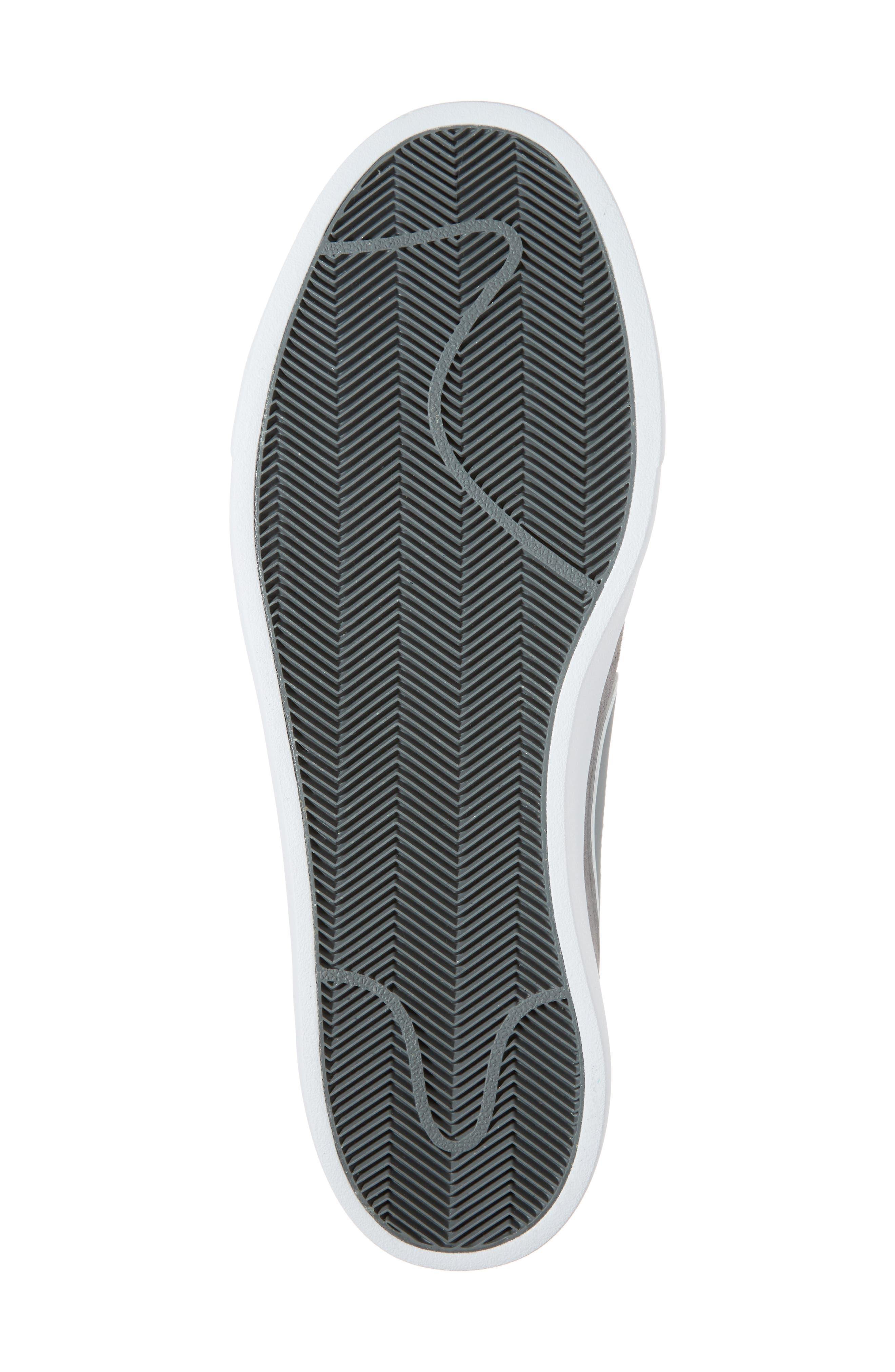 SB Blazer Vapor Skateboarding Sneaker,                             Alternate thumbnail 6, color,                             Cool Grey/Cool Grey/White
