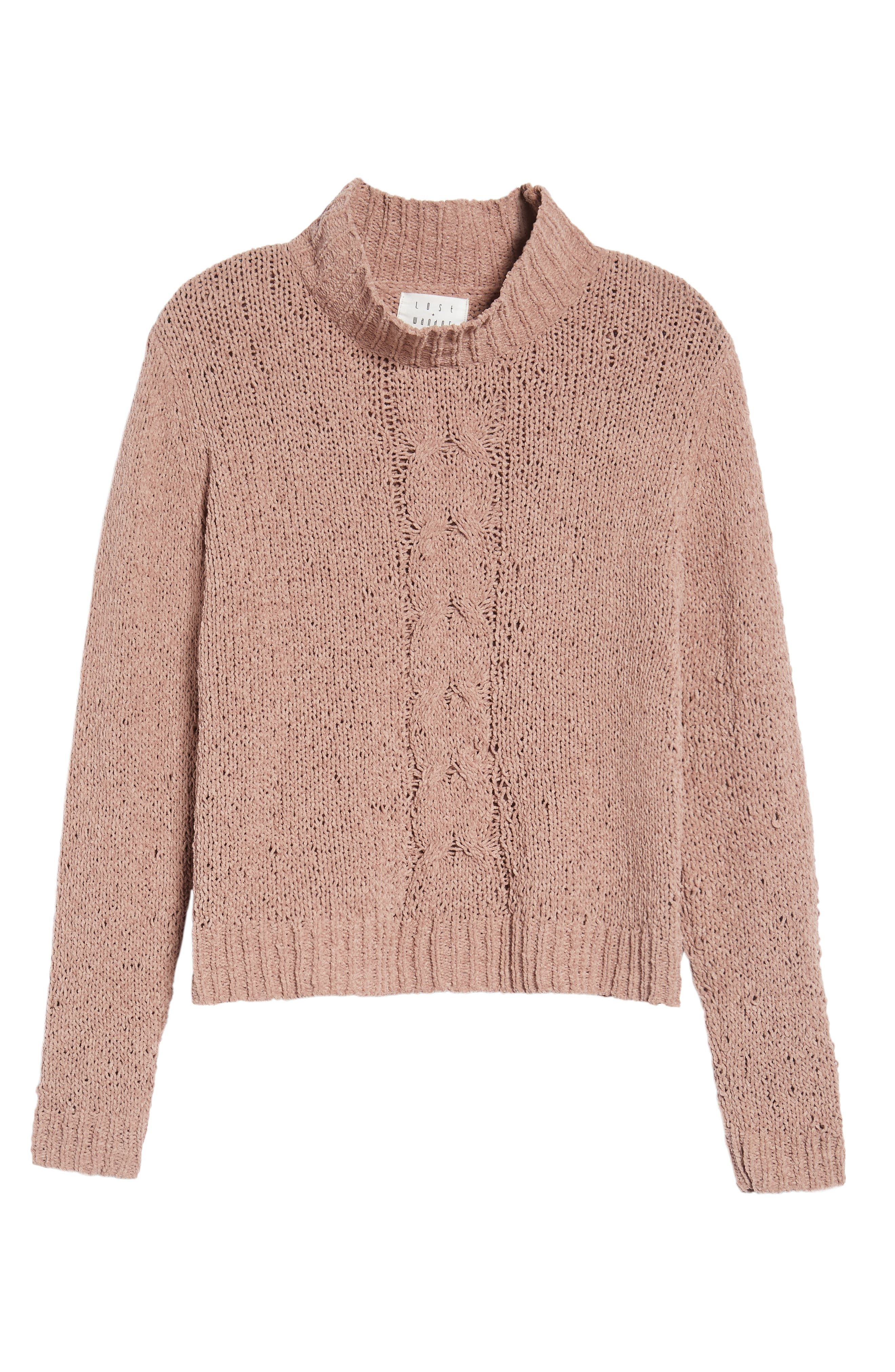 Jolie Chenille Sweater,                             Alternate thumbnail 6, color,                             Mauve