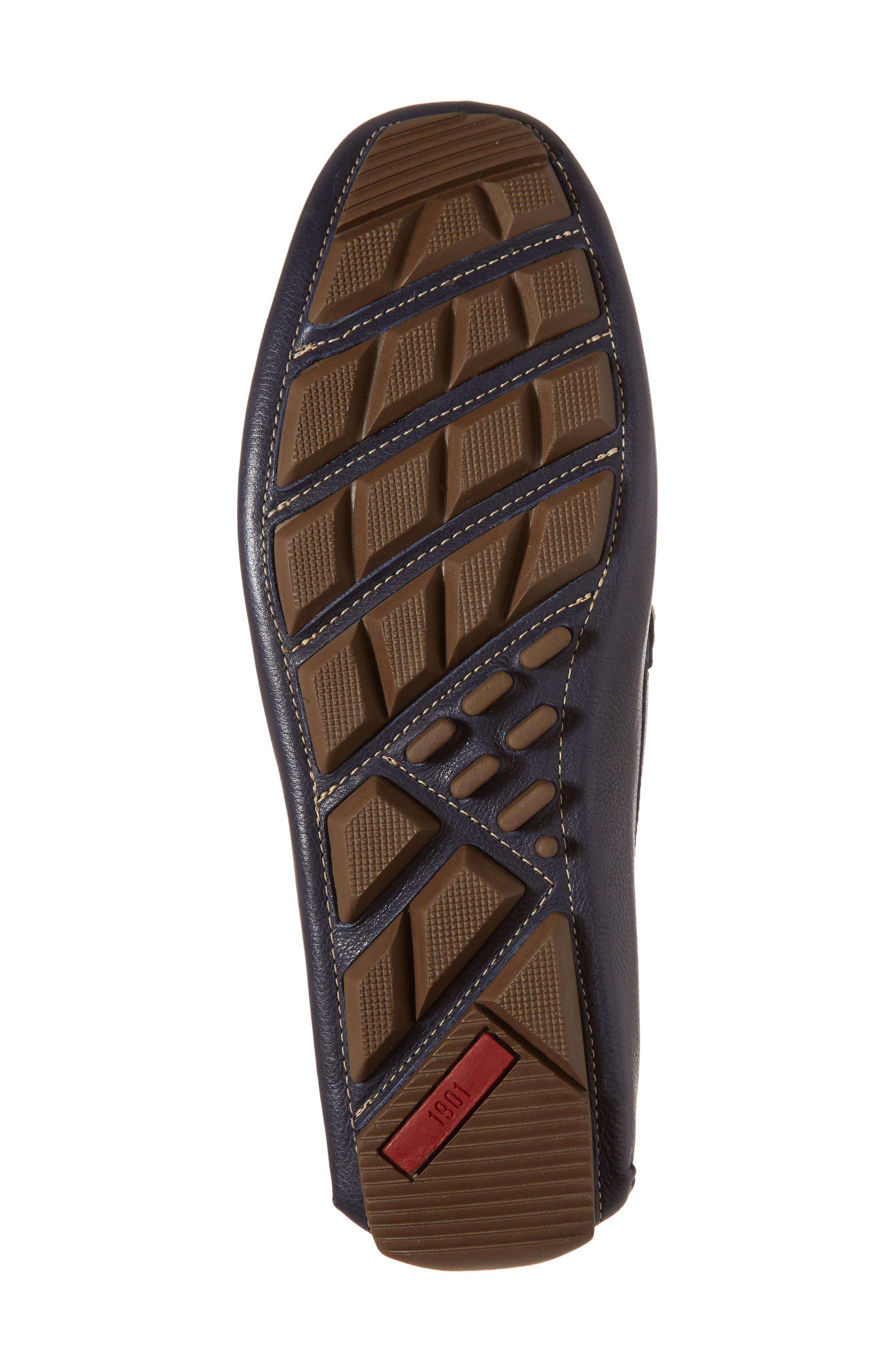 Topanga Driving Shoe,                             Alternate thumbnail 6, color,                             Navy Leather