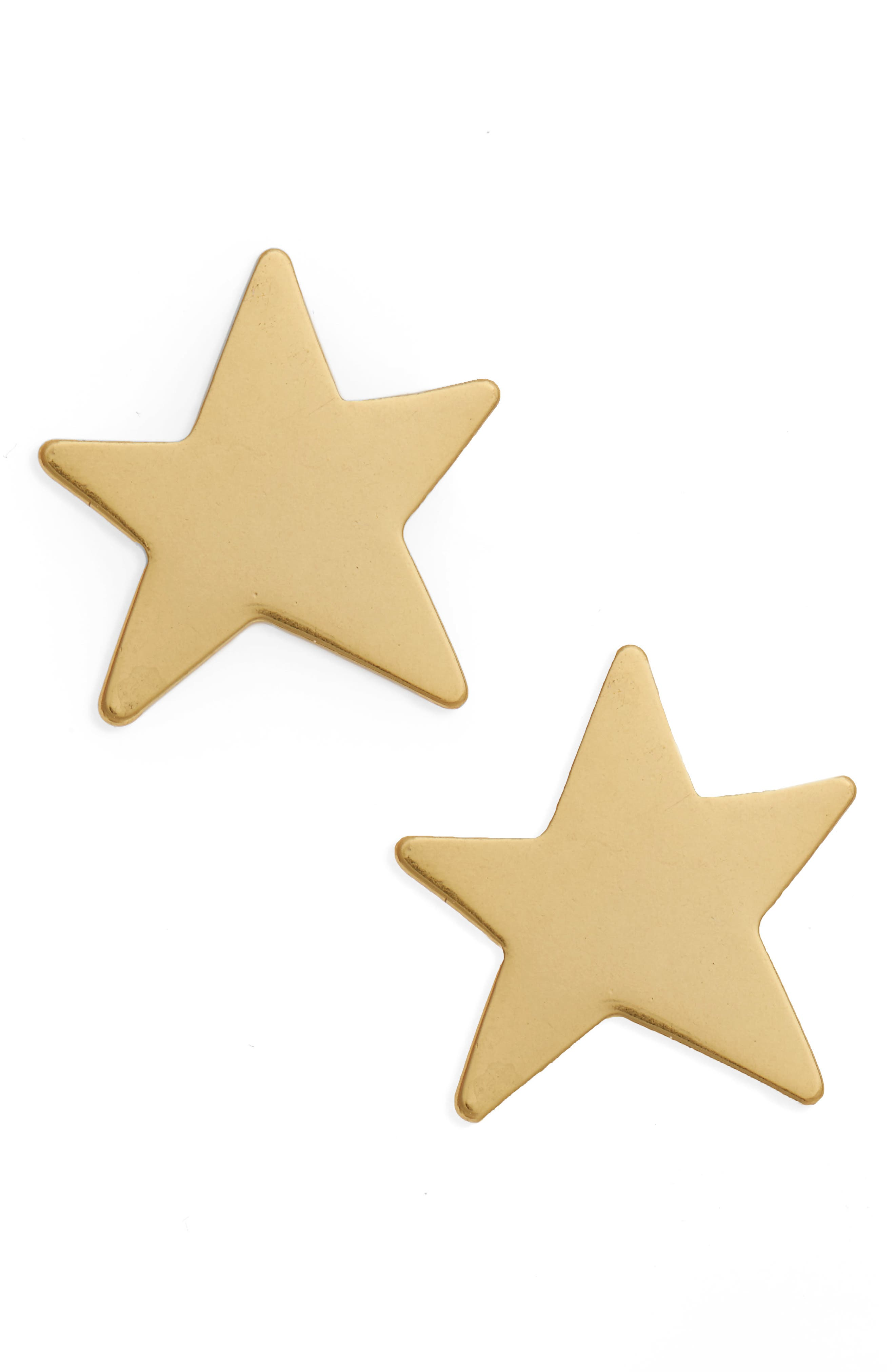 Star Earrings,                         Main,                         color, Vintage Gold