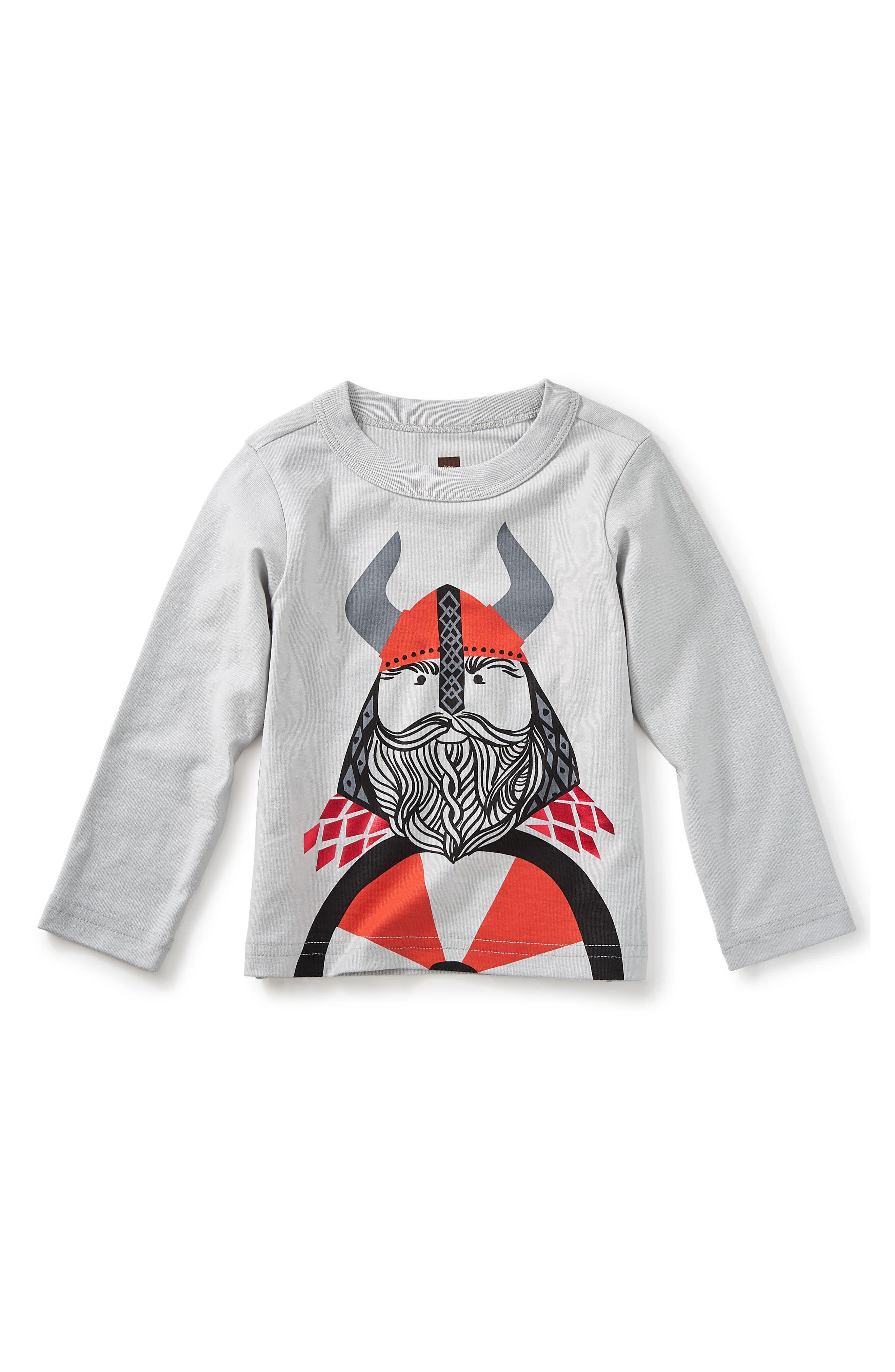Little Viking Graphic T-Shirt,                             Main thumbnail 1, color,                             Platinum