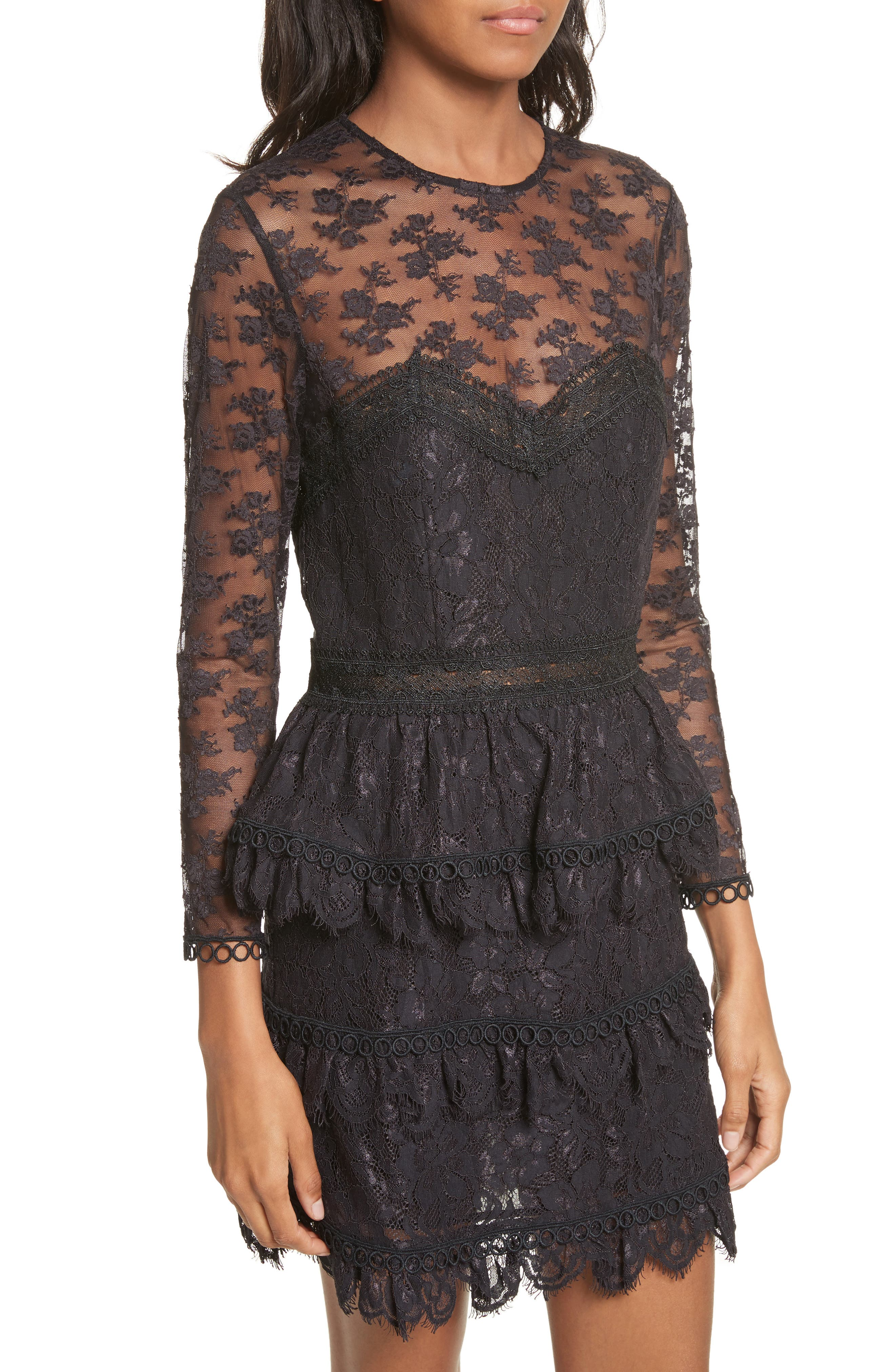 Alternate Image 4  - The Kooples Floral Lace Dress
