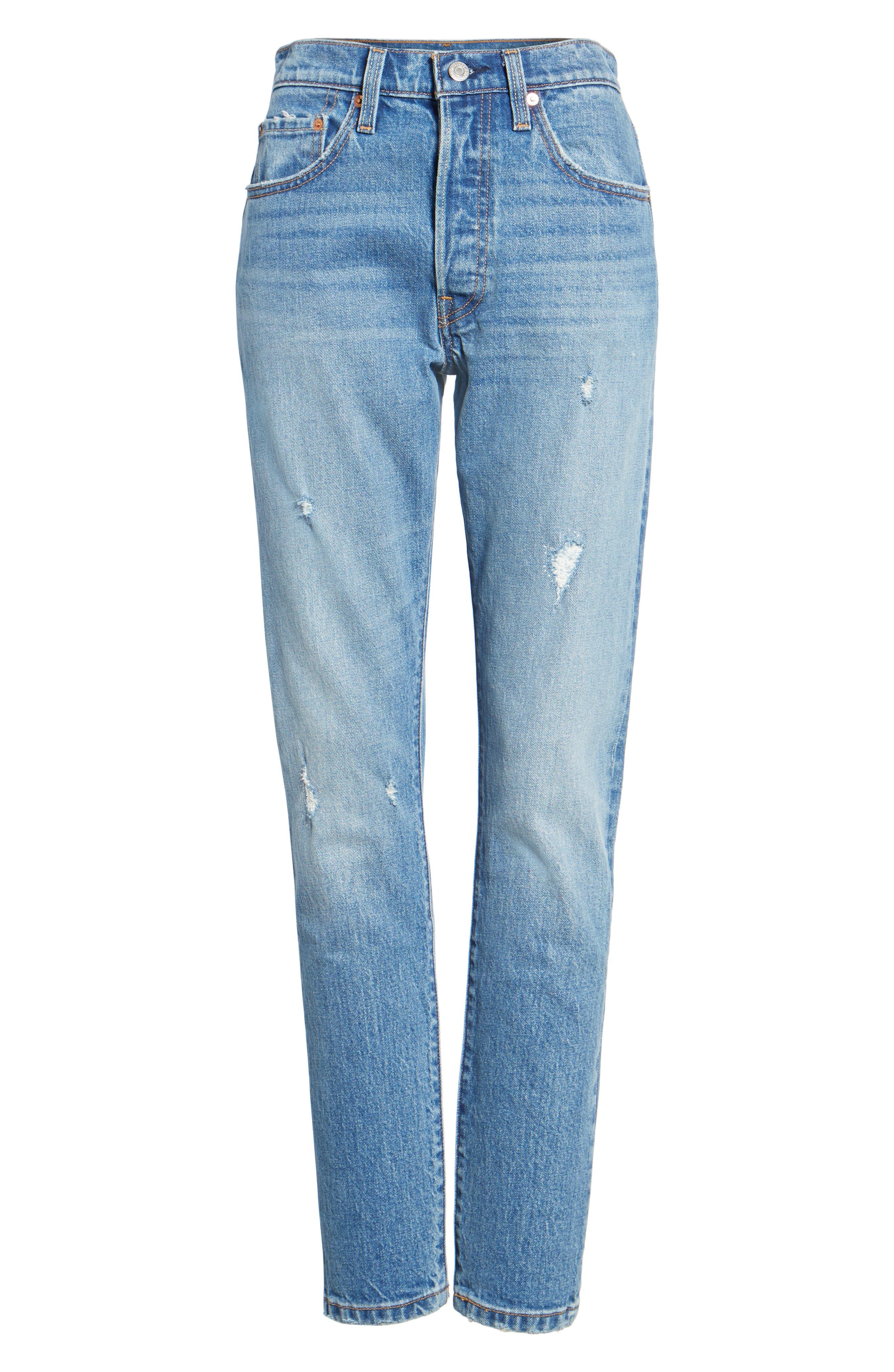Alternate Image 6  - Levi's® 501 High Waist Skinny Jeans (Leave a Trace)