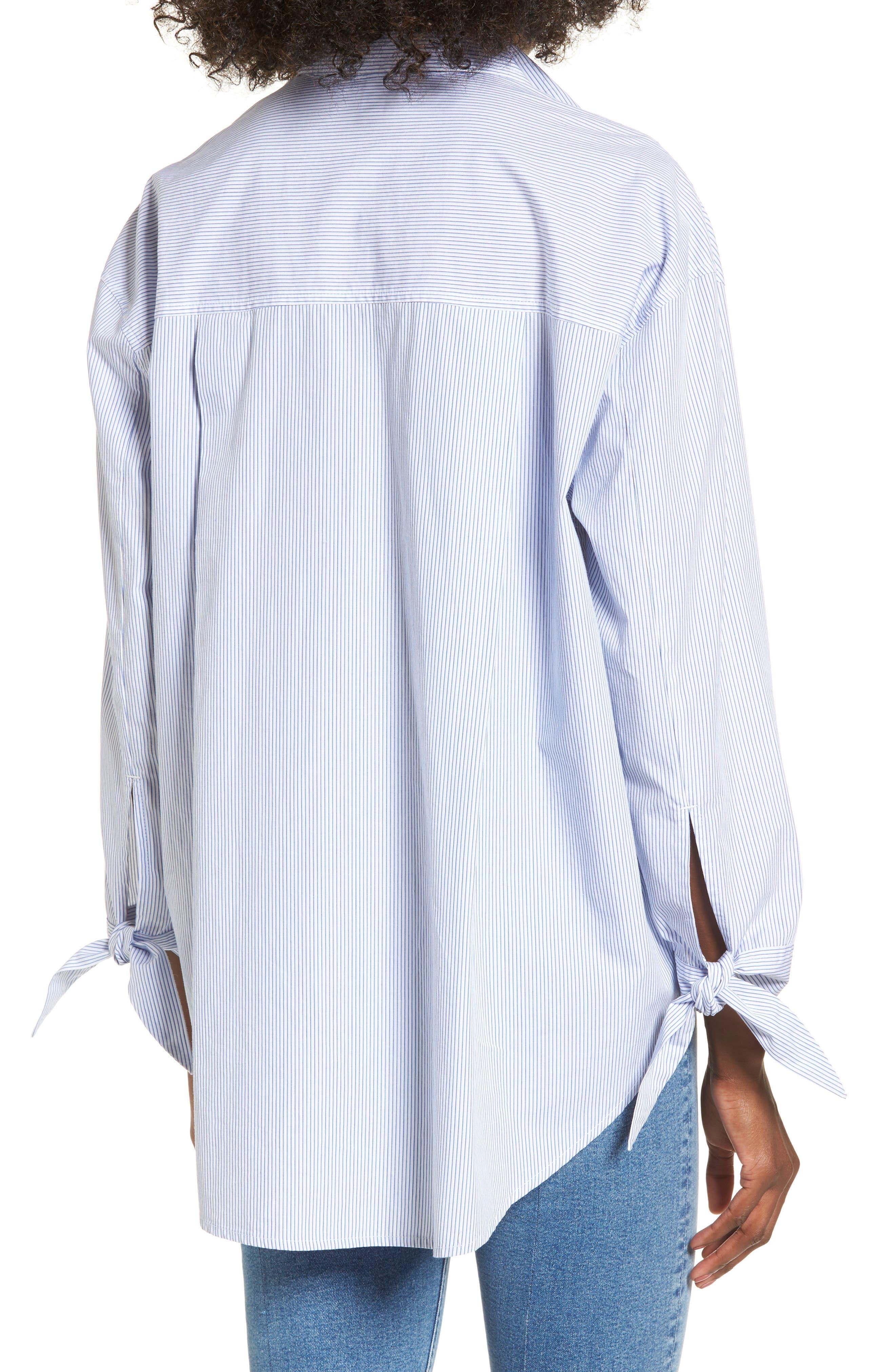Alternate Image 2  - BP. Tie Sleeve Tunic Shirt