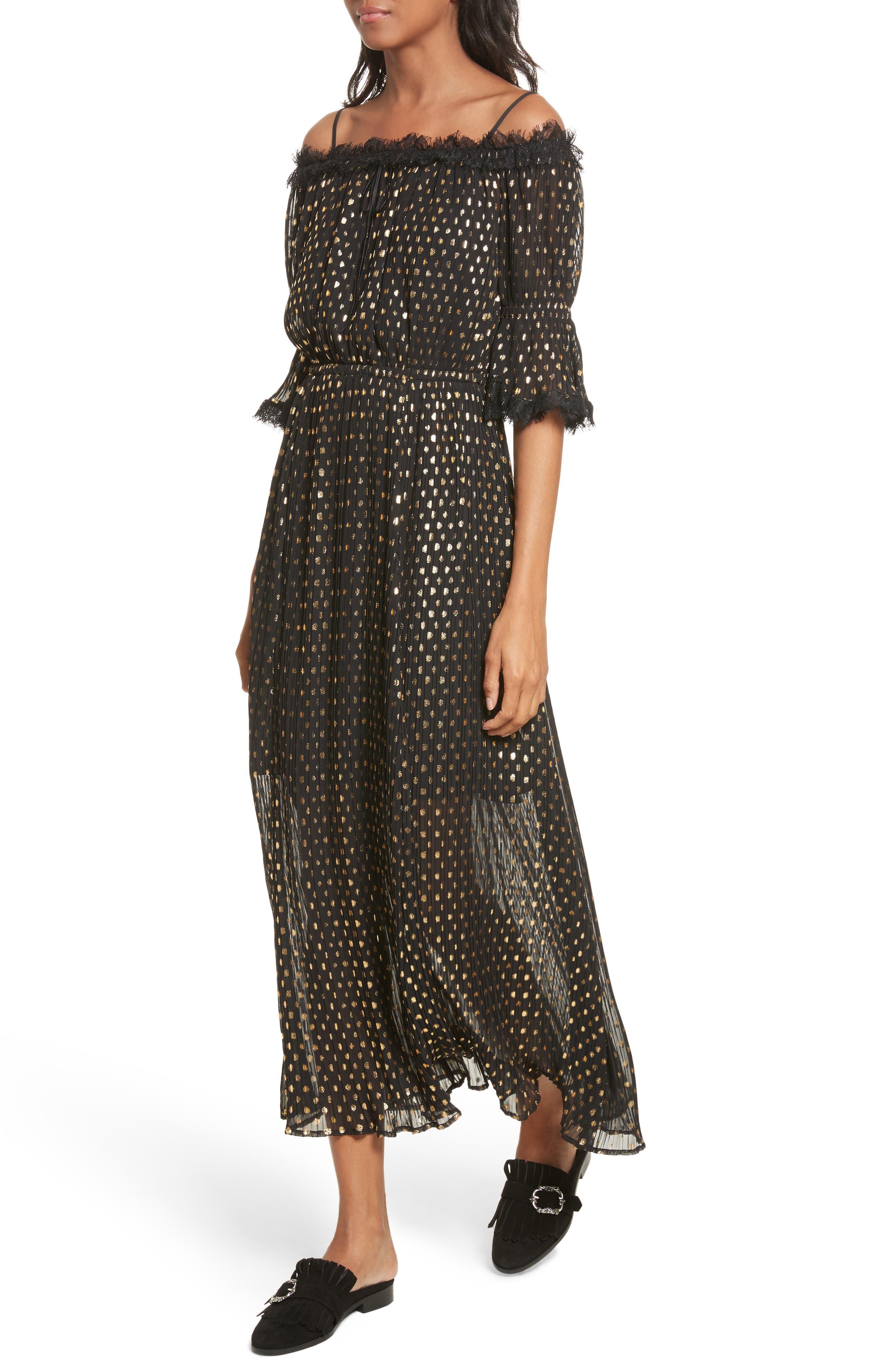 Alternate Image 4  - The Kooples Polka Dot Off the Shoulder Maxi Dress