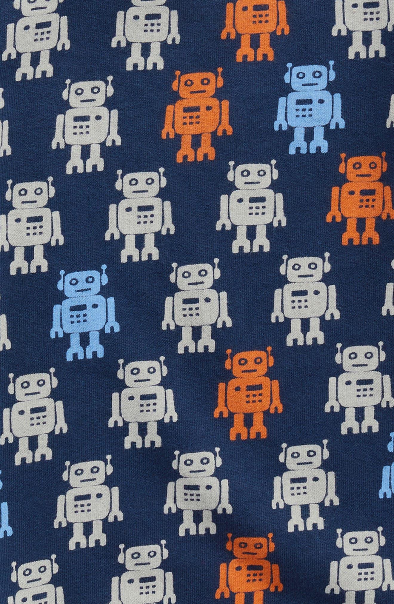 Robot Print Sweatshirt,                             Alternate thumbnail 3, color,                             Navy Dress Robot
