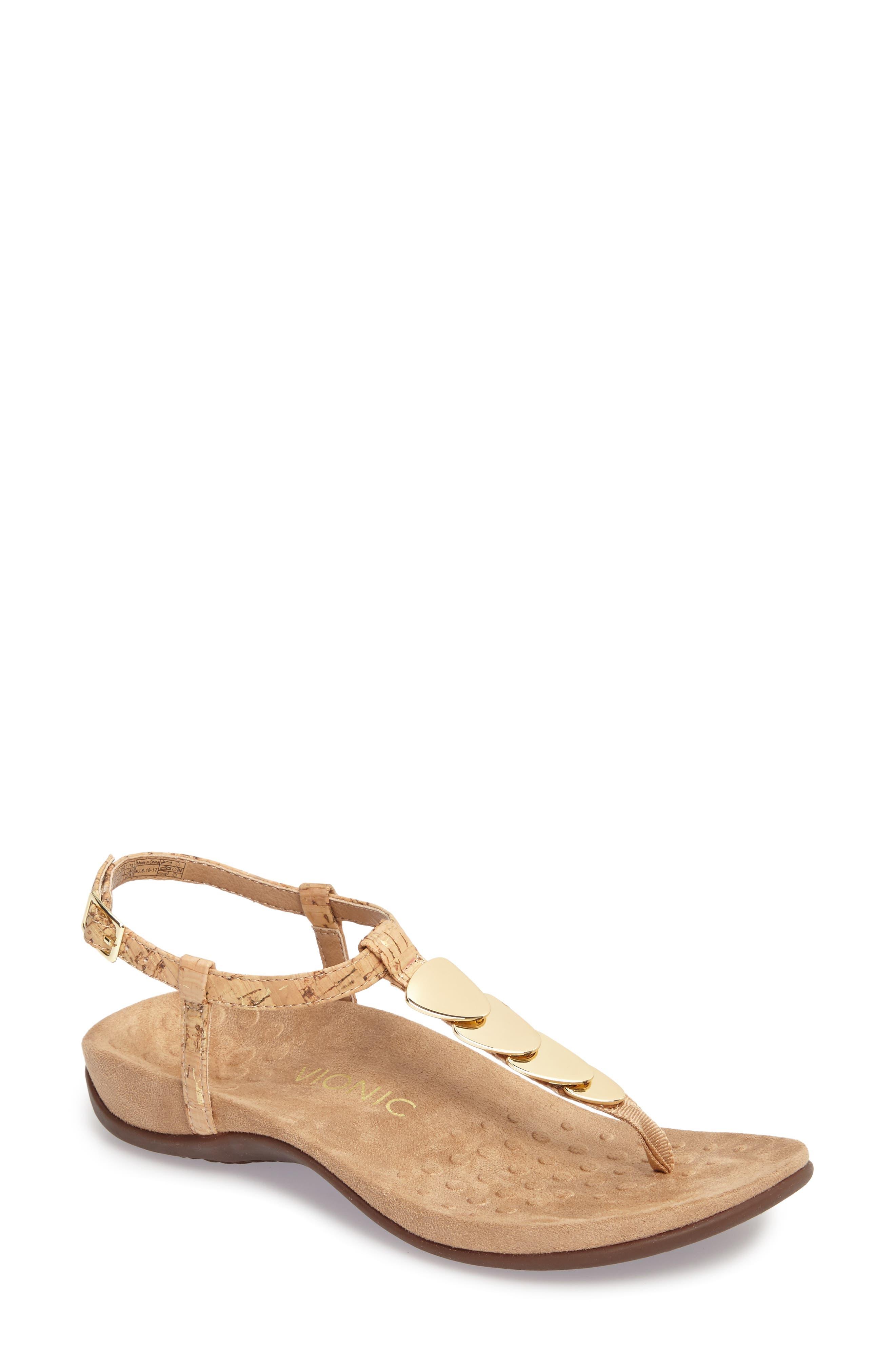 Miami T-Strap Sandal,                         Main,                         color, Natural Cork Fabric