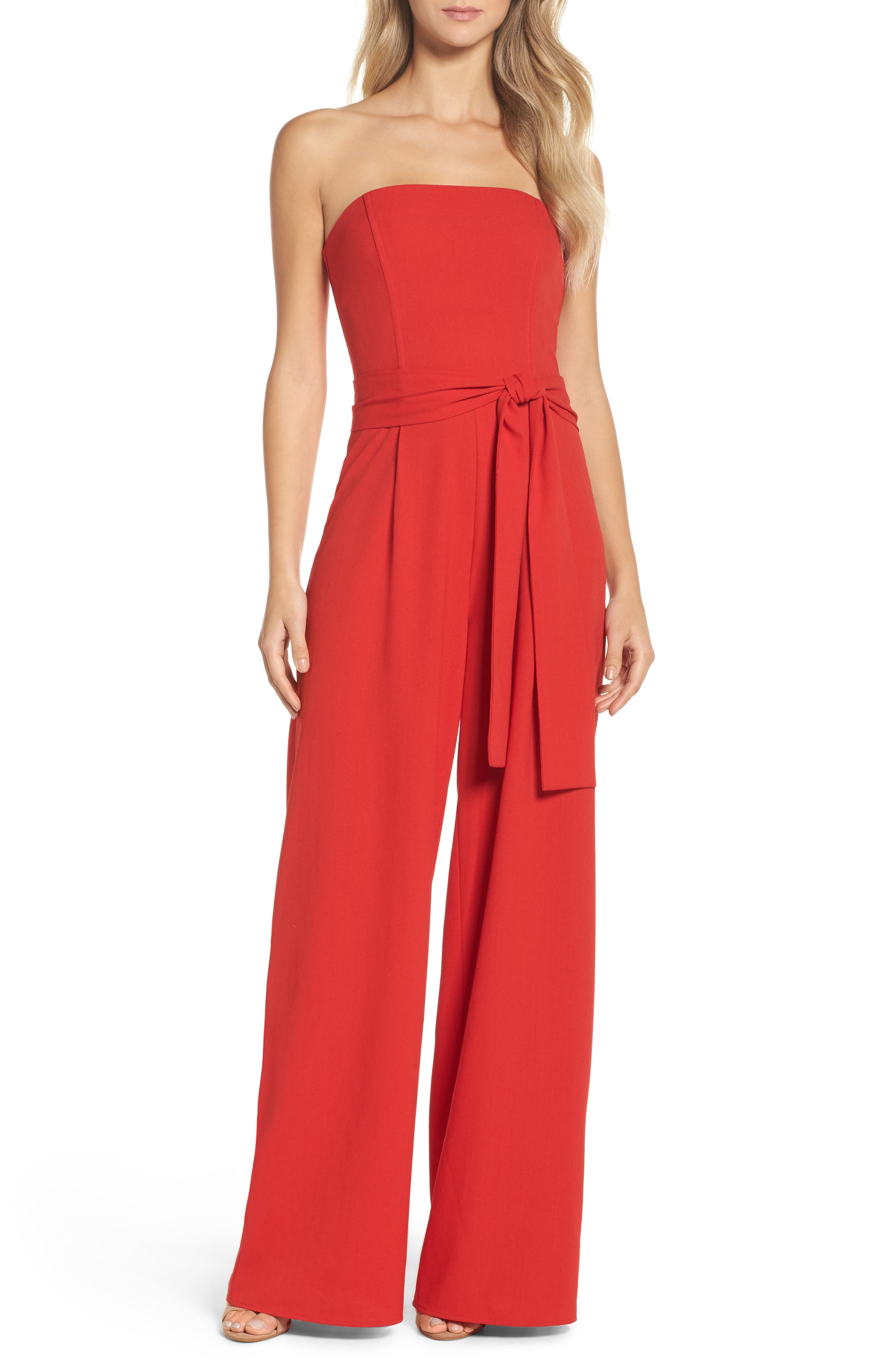 Alternate Image 1 Selected - Chelsea28 Strapless Jumpsuit