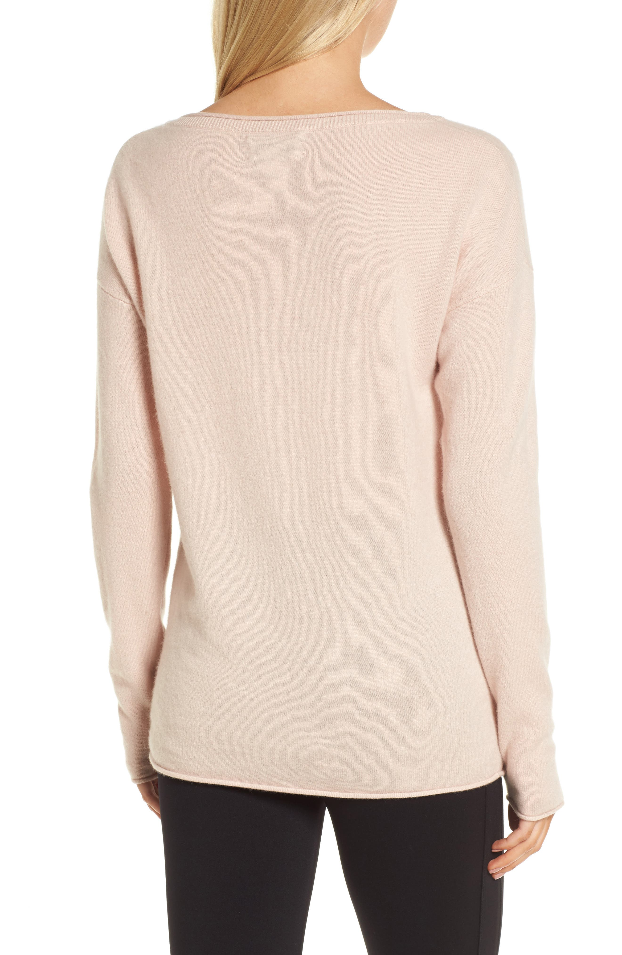 Boiled Cashmere Sweater,                             Alternate thumbnail 2, color,                             Pink Peach