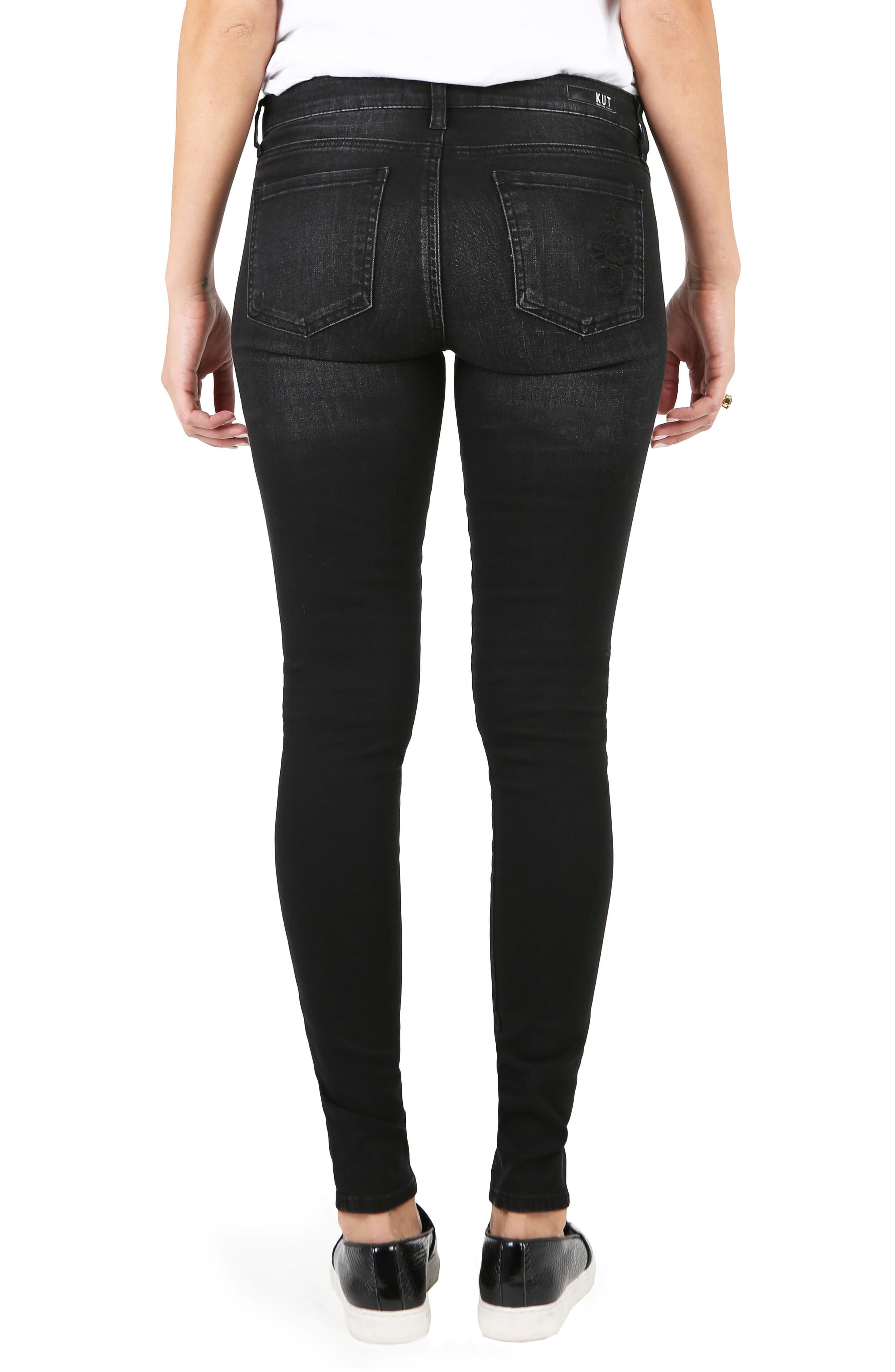 Alternate Image 2  - KUT from The Kloth Mia Embroidered Skinny Jeans (Versed)